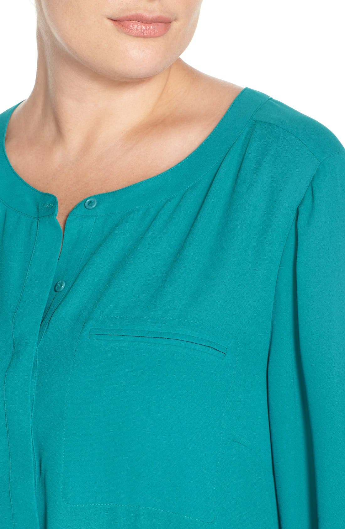 Henley Top,                             Alternate thumbnail 405, color,