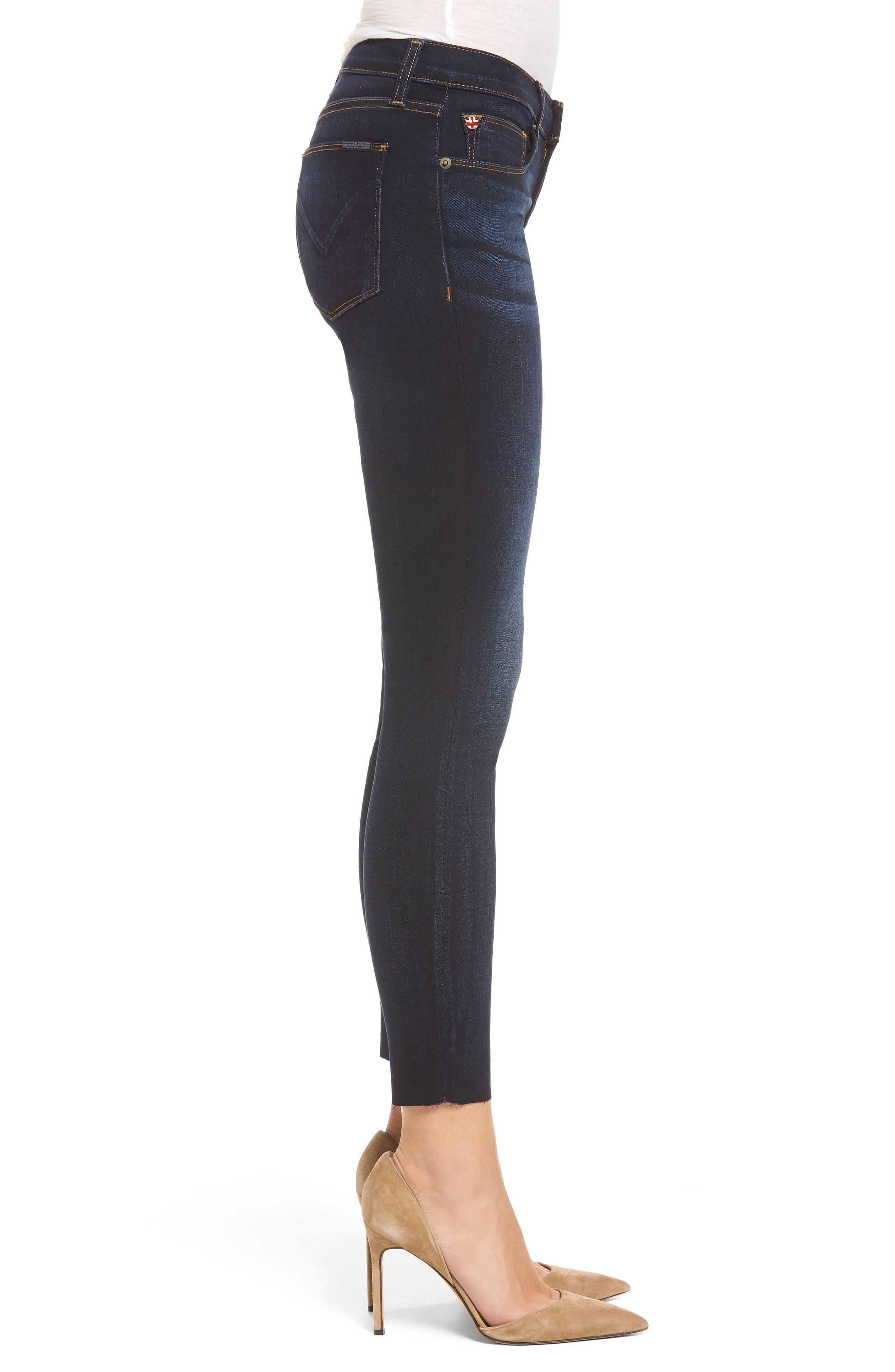 'Krista' Raw Hem Ankle Super Skinny Jeans,                             Alternate thumbnail 3, color,                             402