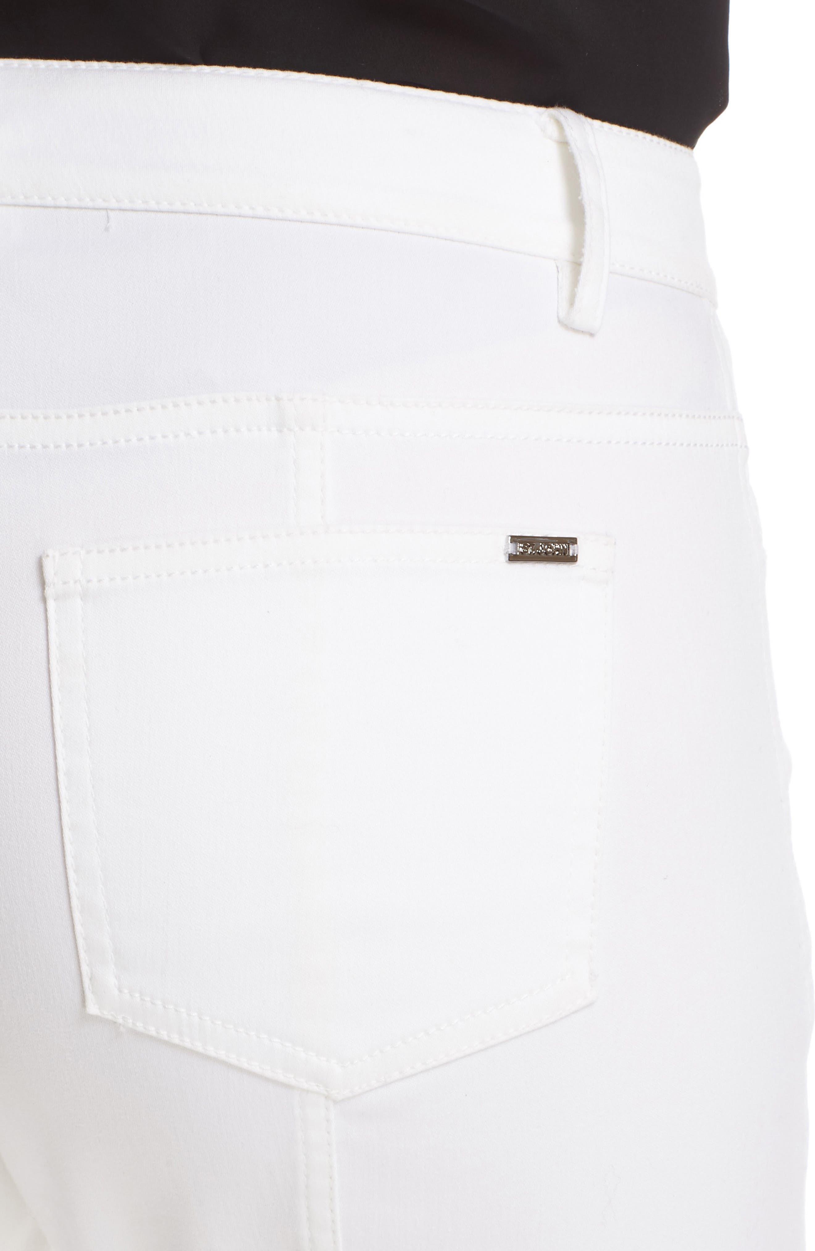 St. John Sport Collection Bardot Slim Capri Jeans,                             Alternate thumbnail 4, color,                             BIANCO