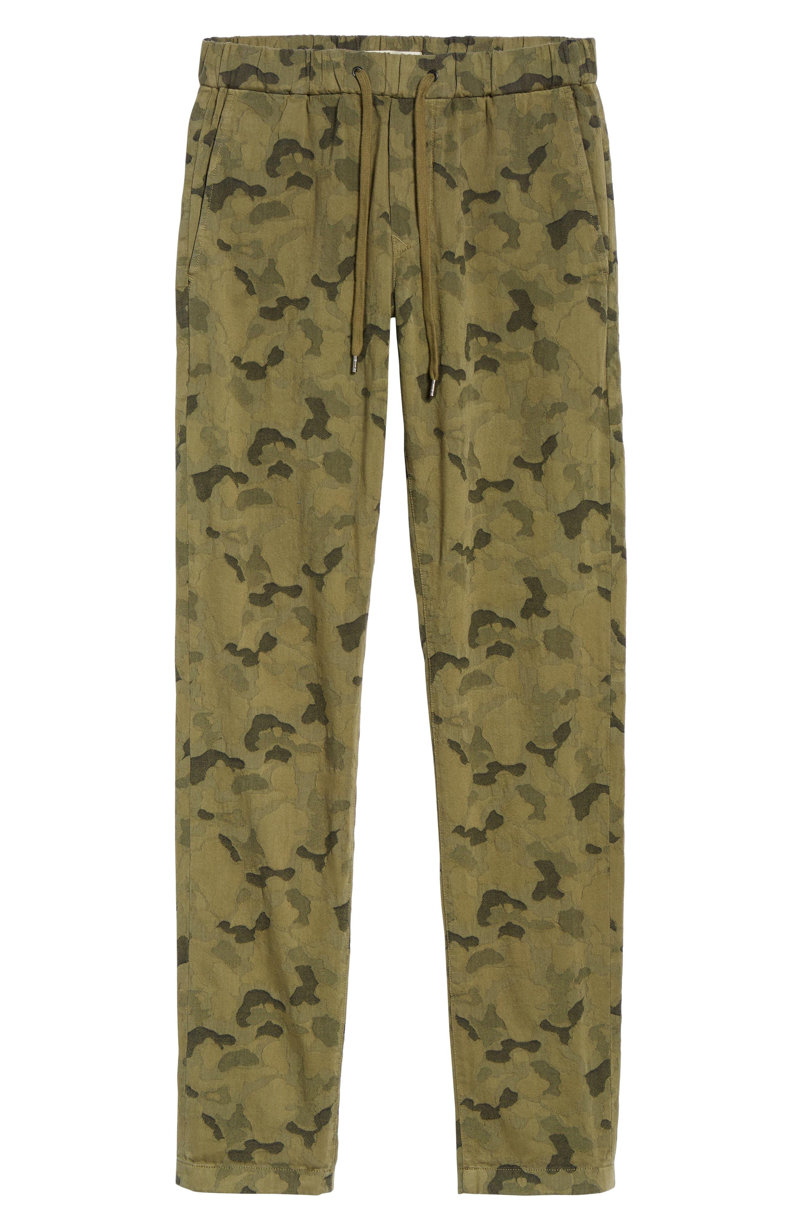 Camo Jacquard Slim Pants,                             Alternate thumbnail 6, color,                             SPRIG