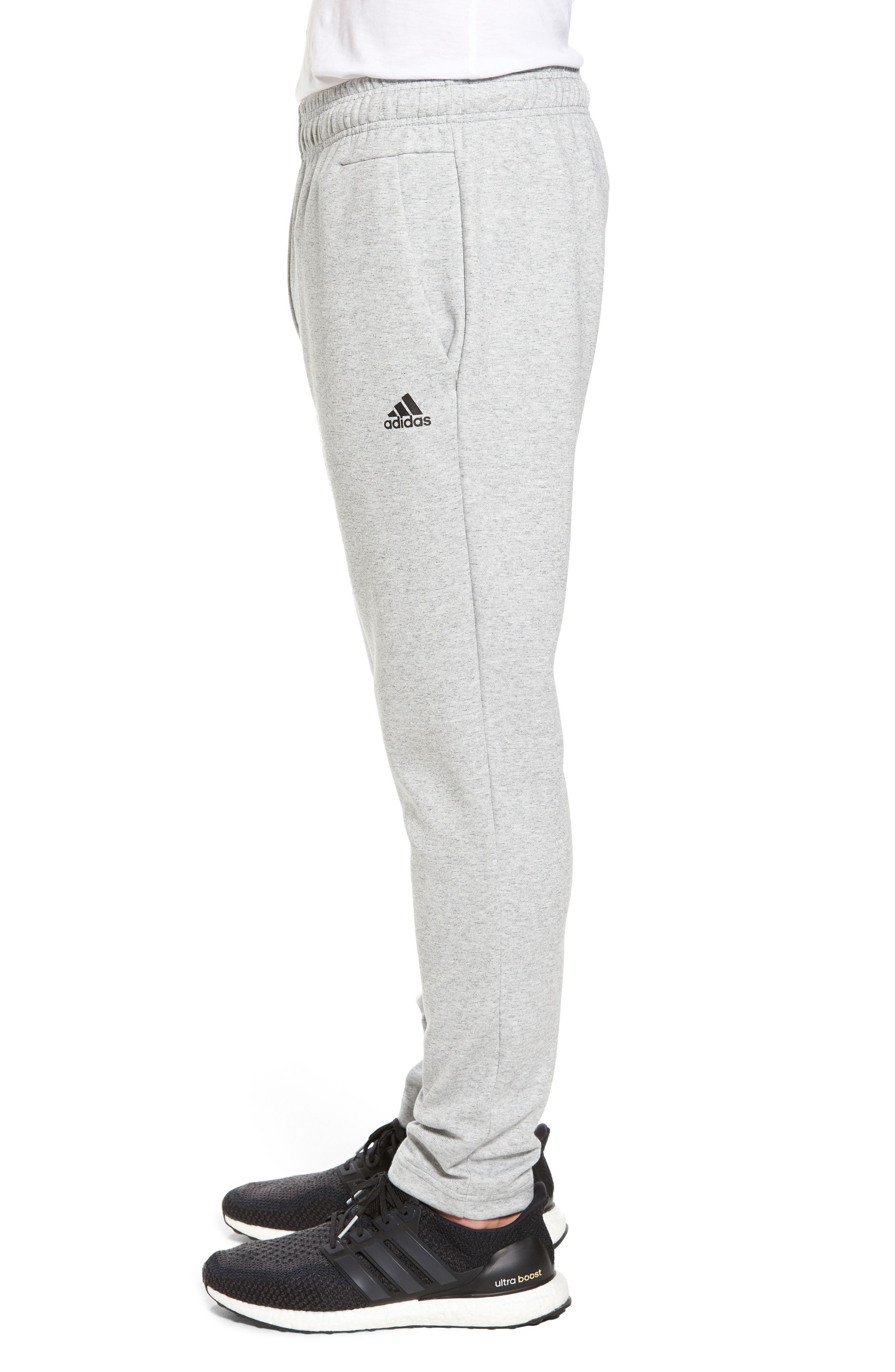 ID Stadium Knit Pants,                             Alternate thumbnail 3, color,                             STADIUM HEATHER/ BLACK