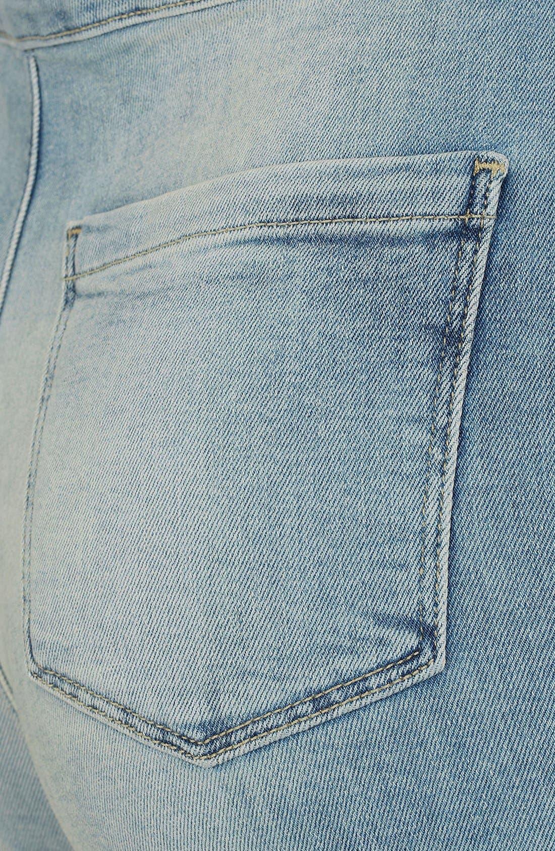 Moto 'Francis' Denim Hot Pants,                             Alternate thumbnail 3, color,                             450