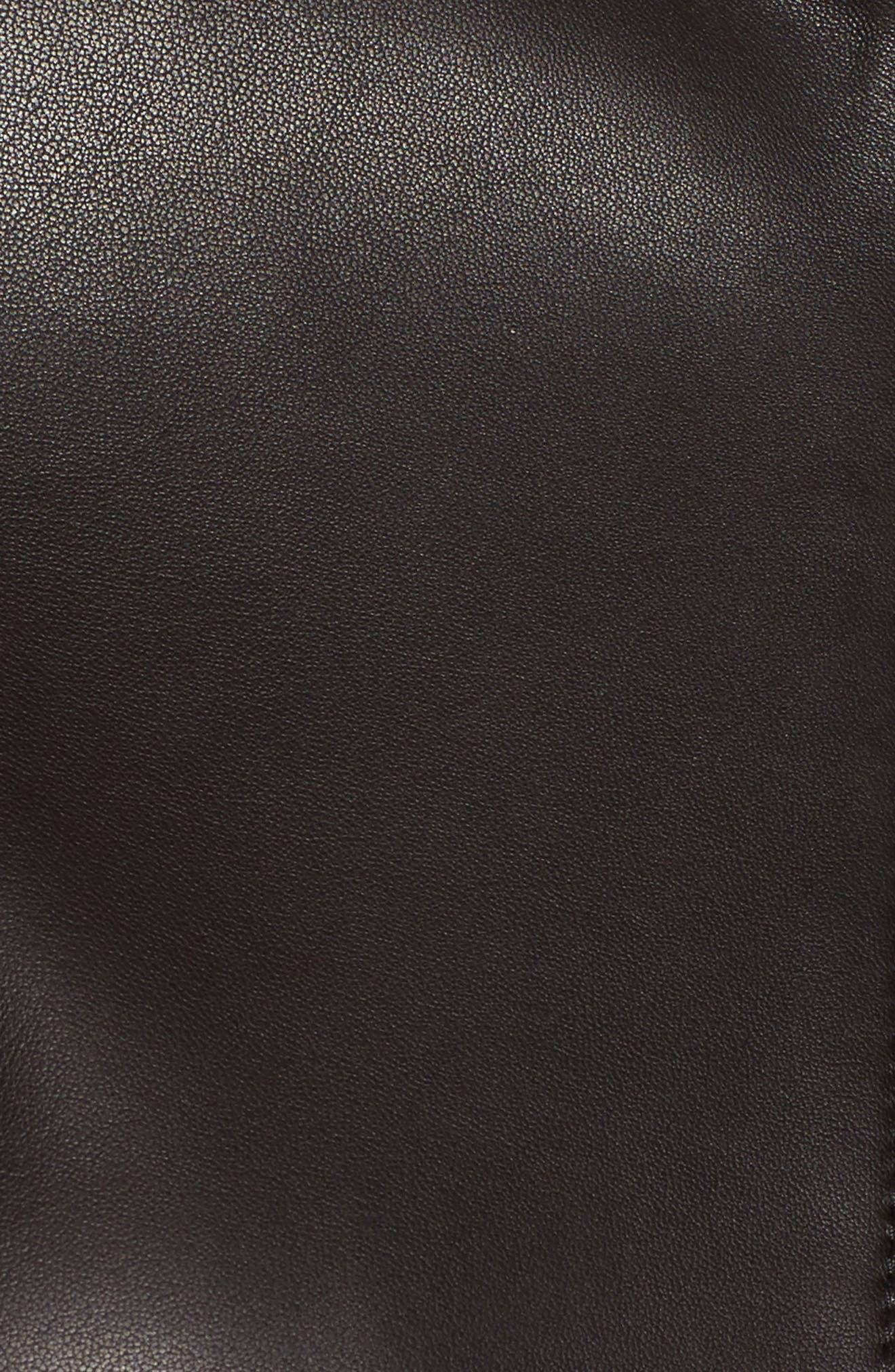 BOSS,                             Sanuvo Leather Jacket,                             Alternate thumbnail 6, color,                             001