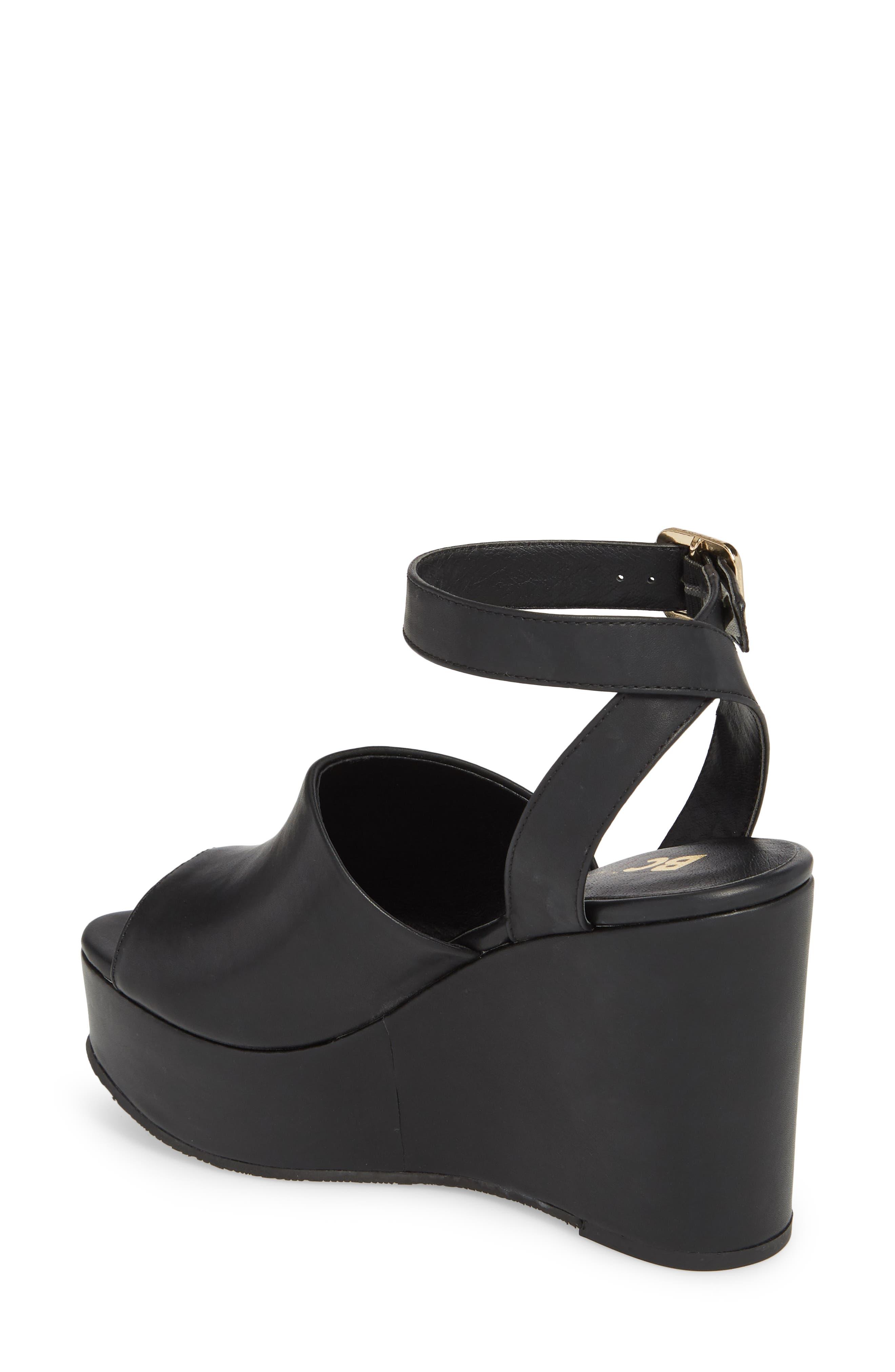 Admit One Platform Wedge Sandal,                             Alternate thumbnail 2, color,                             001