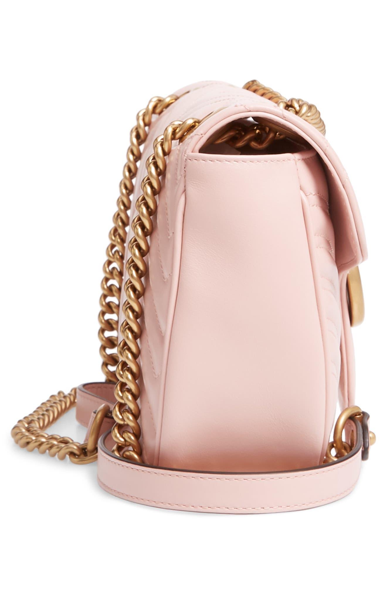 Small GG Marmont 2.0 Matelassé Leather Shoulder Bag,                             Alternate thumbnail 21, color,