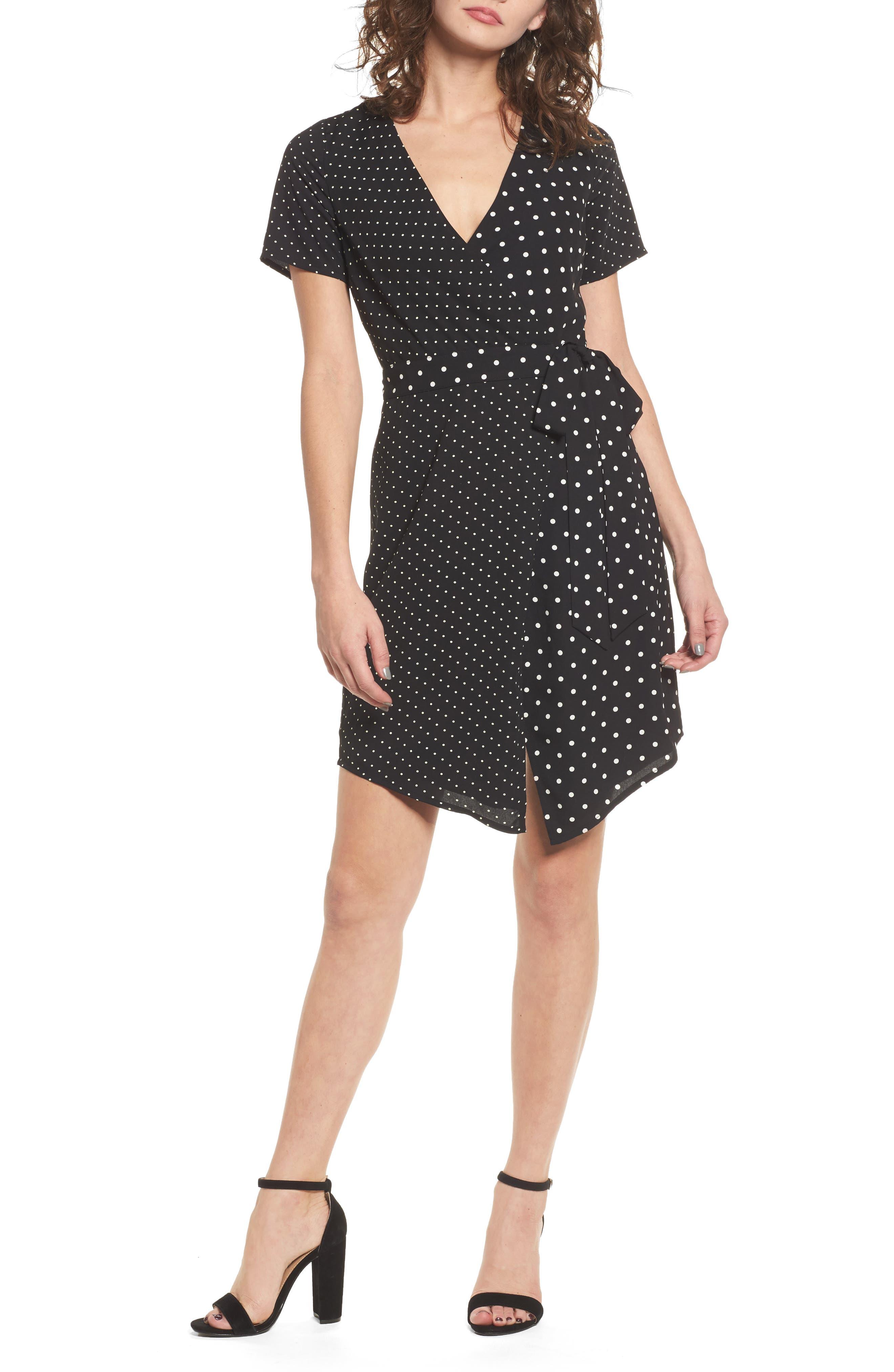 Mix Print Wrap Dress,                         Main,                         color,