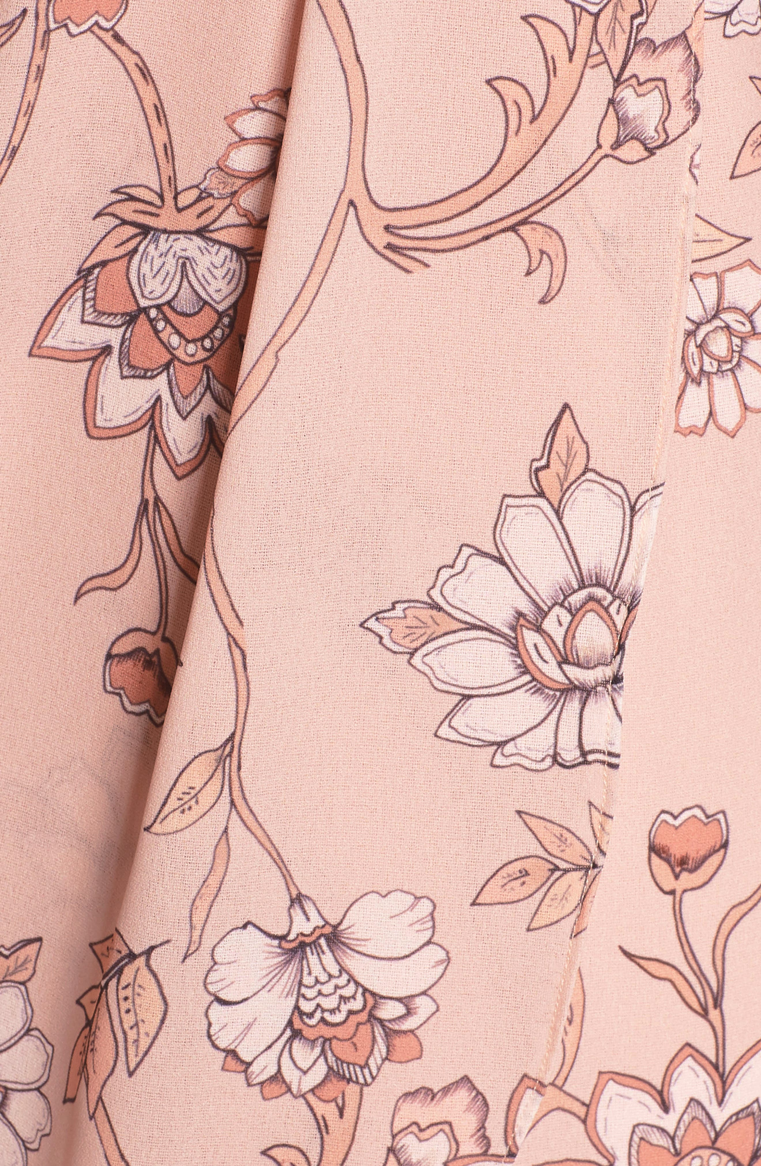 Fiorella Floral Draped Sheath Dress,                             Alternate thumbnail 7, color,                             668