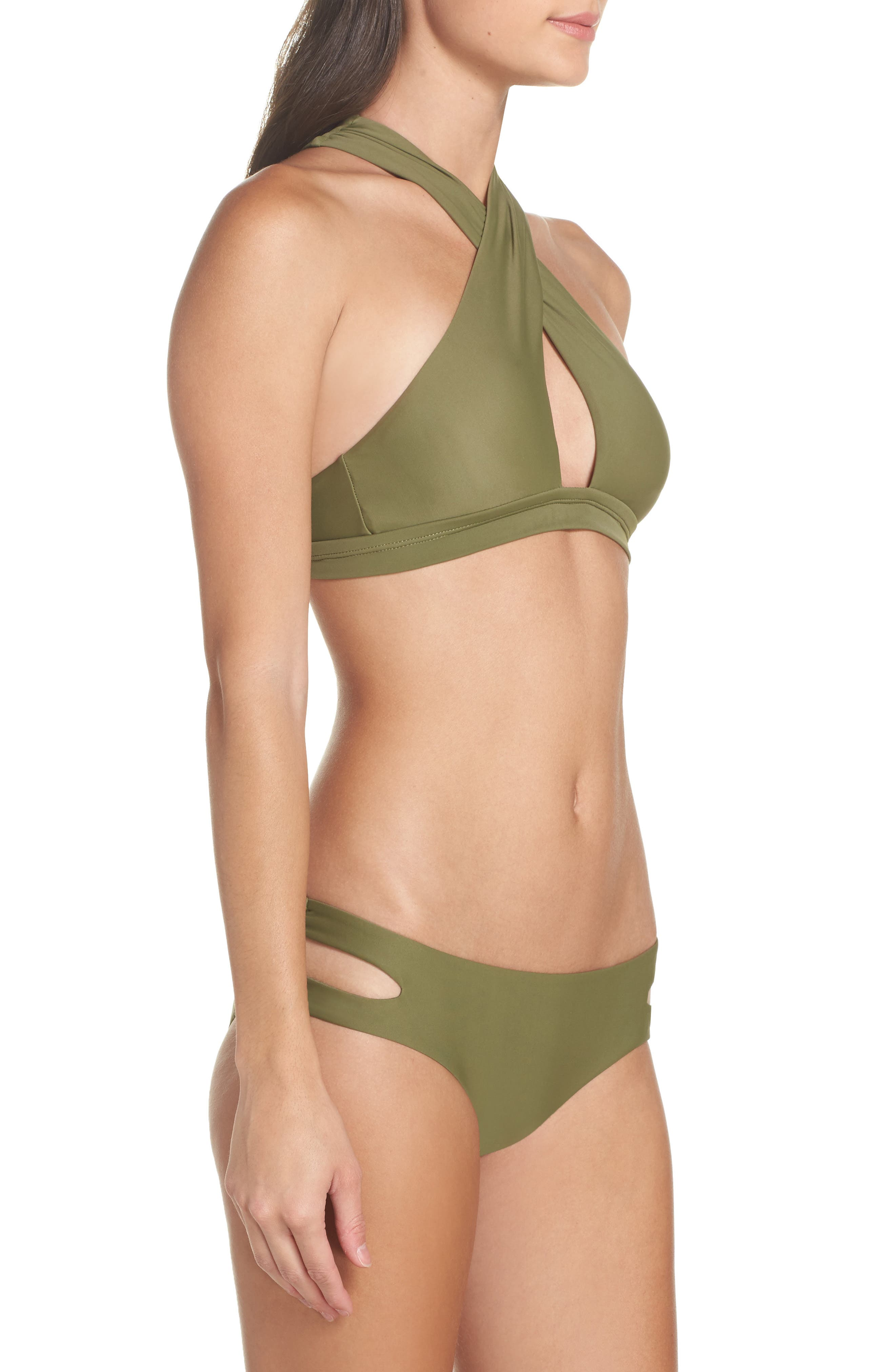 Cutout Hipster Bikini Bottoms,                             Alternate thumbnail 17, color,