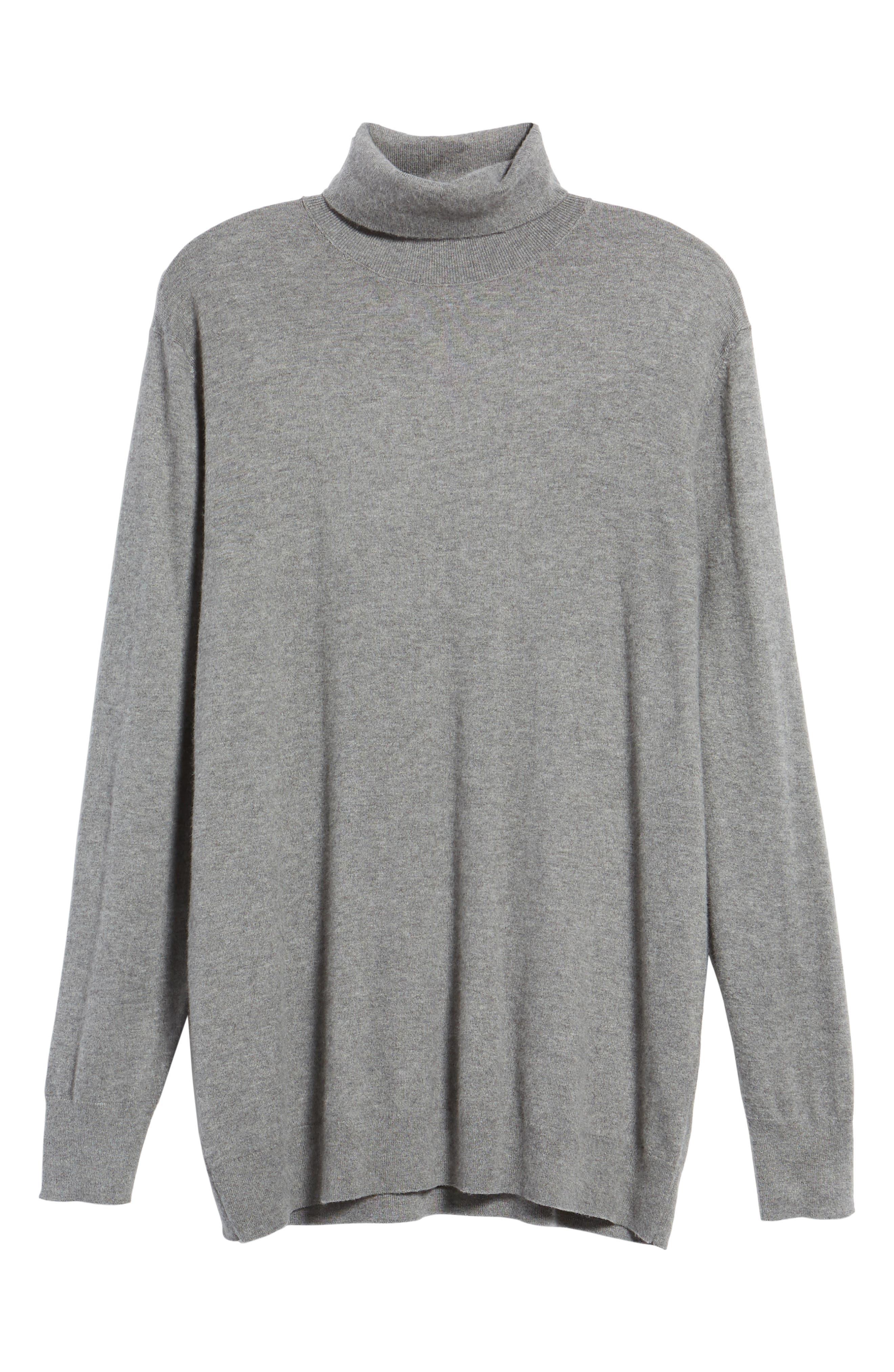Boyfriend Turtleneck Sweater,                             Alternate thumbnail 17, color,