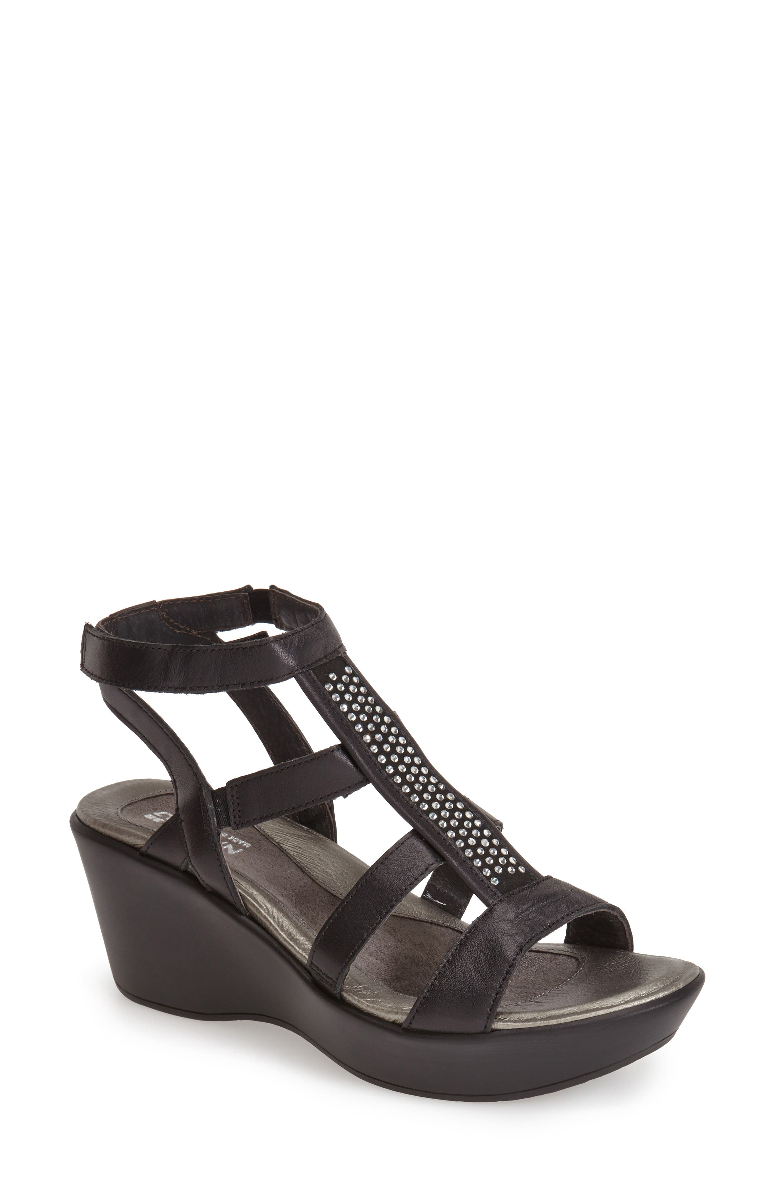 'Mystery' Platform Wedge Sandal,                             Alternate thumbnail 5, color,