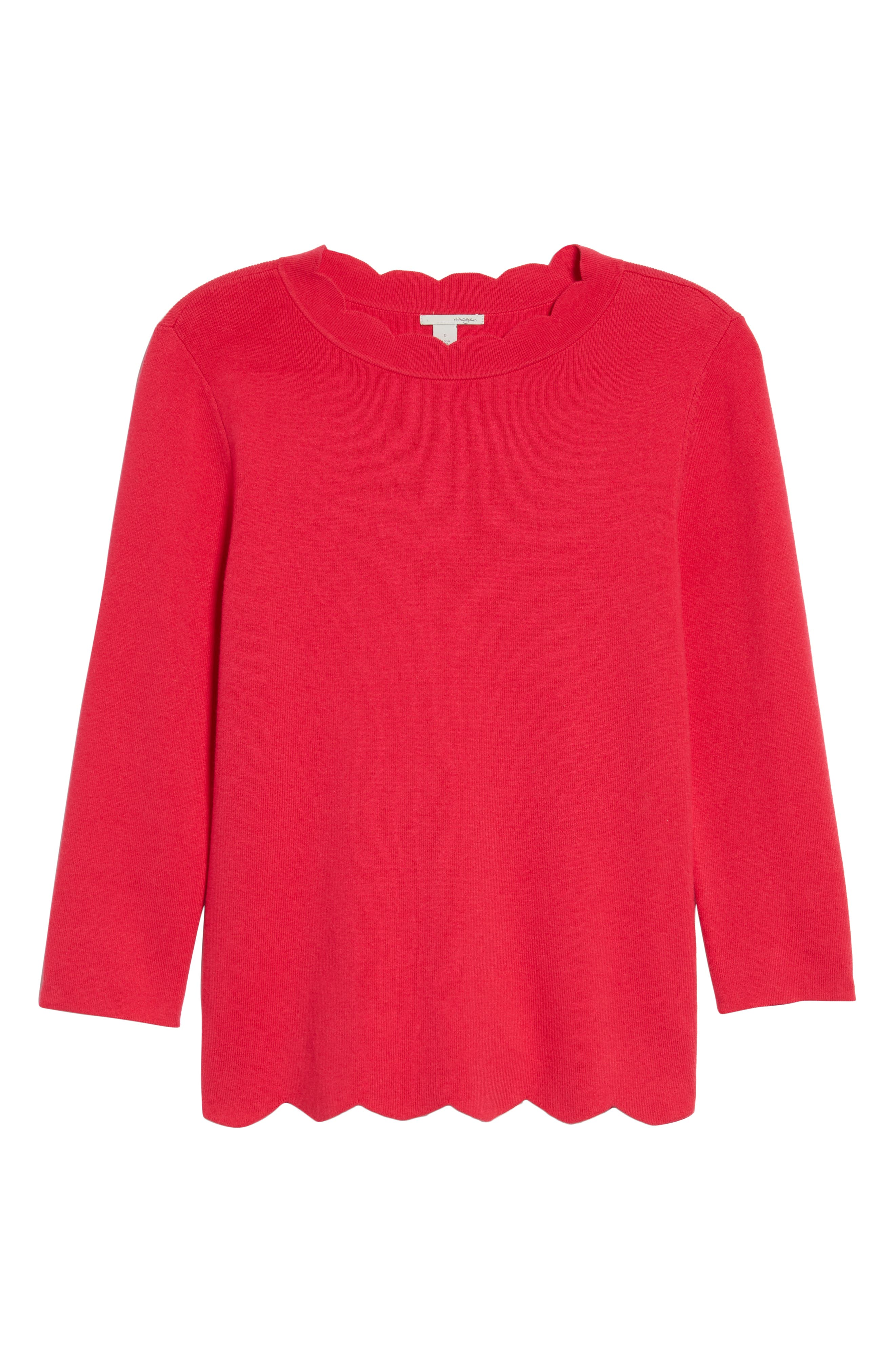 Halogen Scallop Edge Sweater,                             Alternate thumbnail 59, color,
