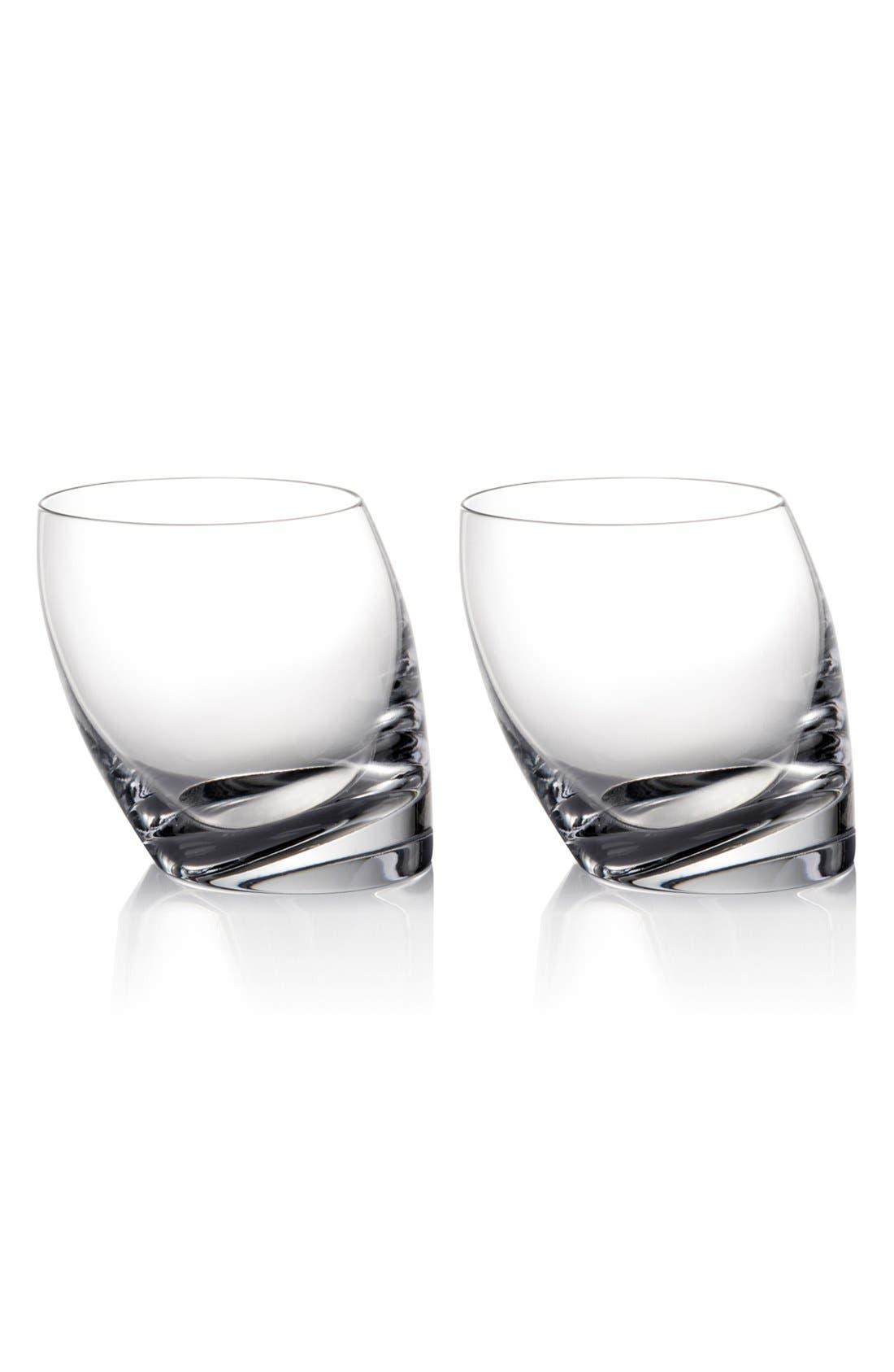 'Tilt' Double Old-Fashioned Glasses,                             Main thumbnail 1, color,                             000
