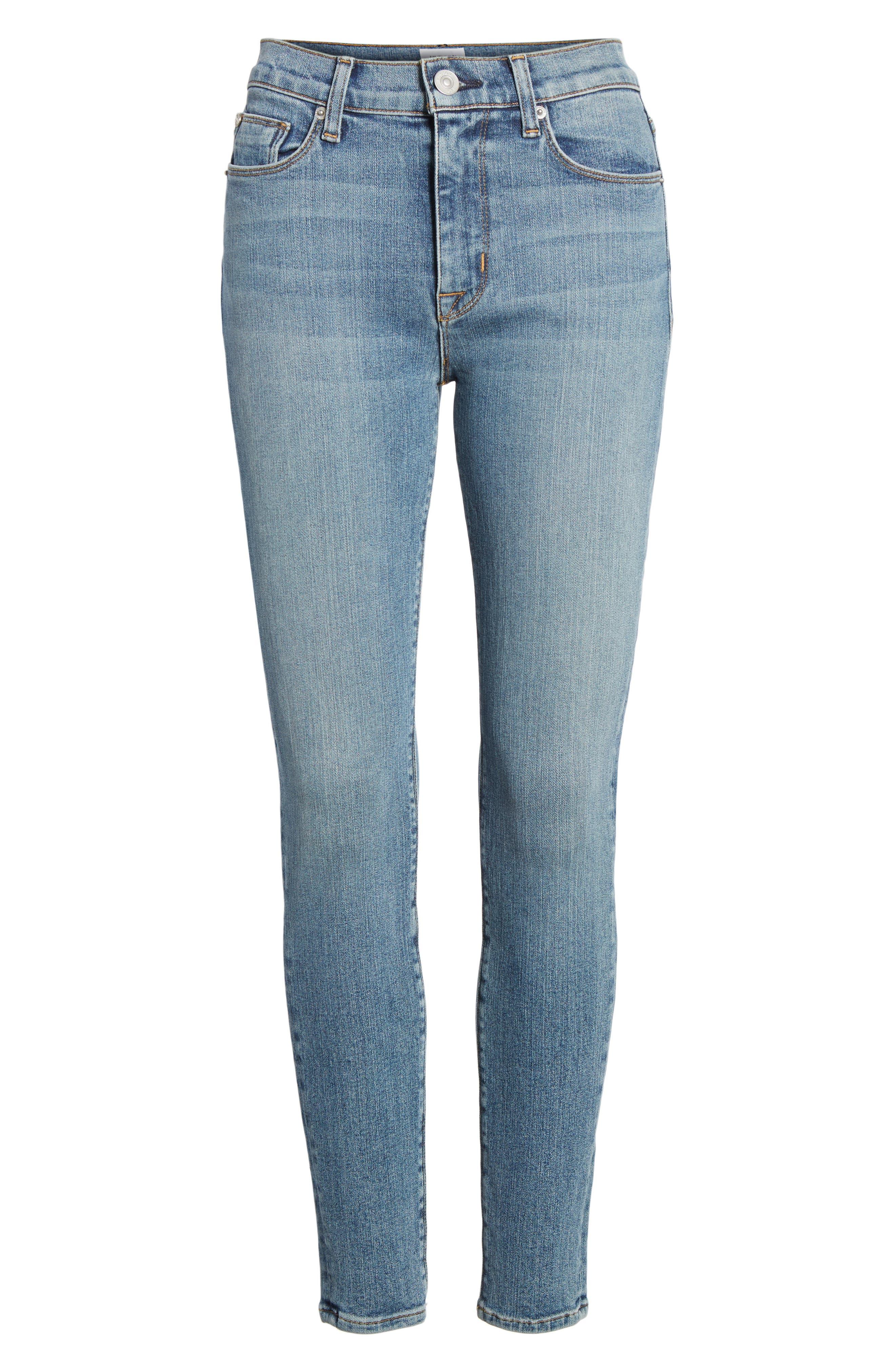 Barbara High Waist Ankle Super Skinny Jeans,                             Alternate thumbnail 12, color,