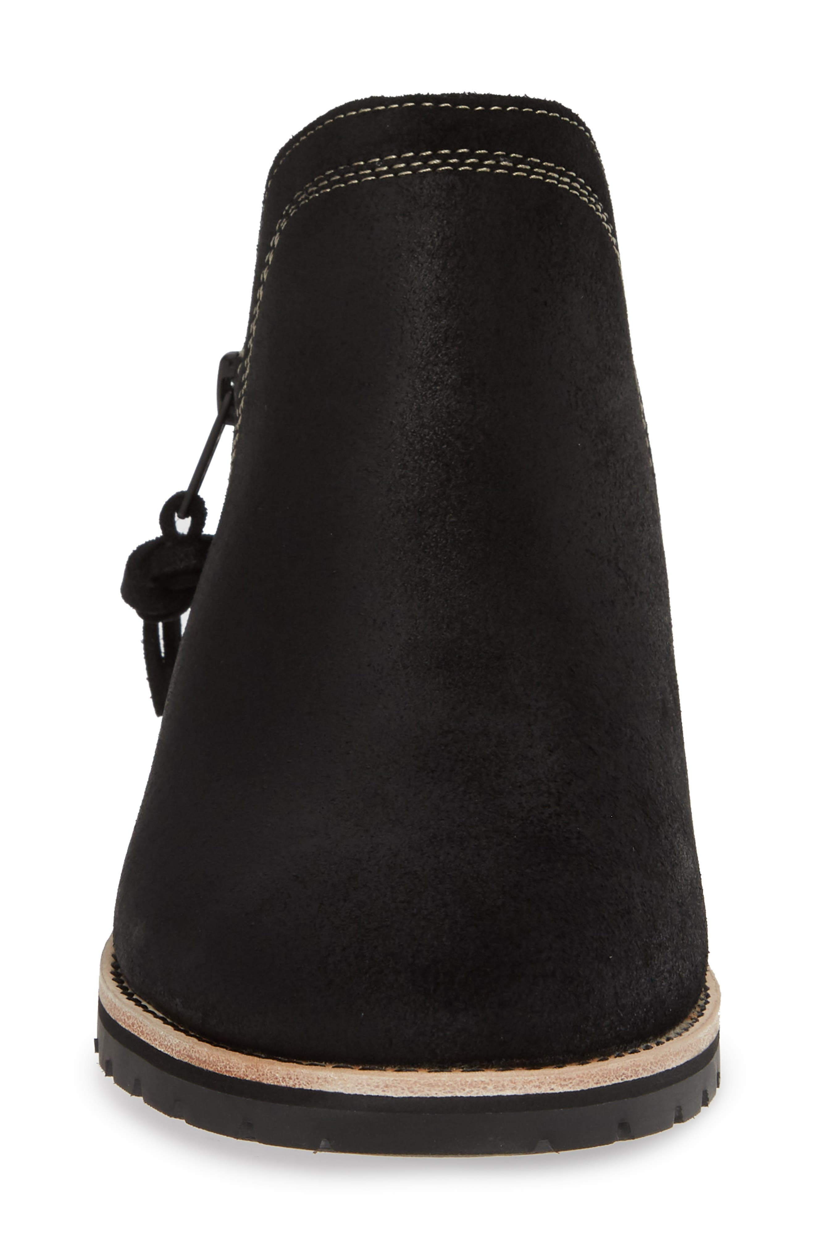 Bly Waterproof Bootie,                             Alternate thumbnail 4, color,                             BLACK SUEDE