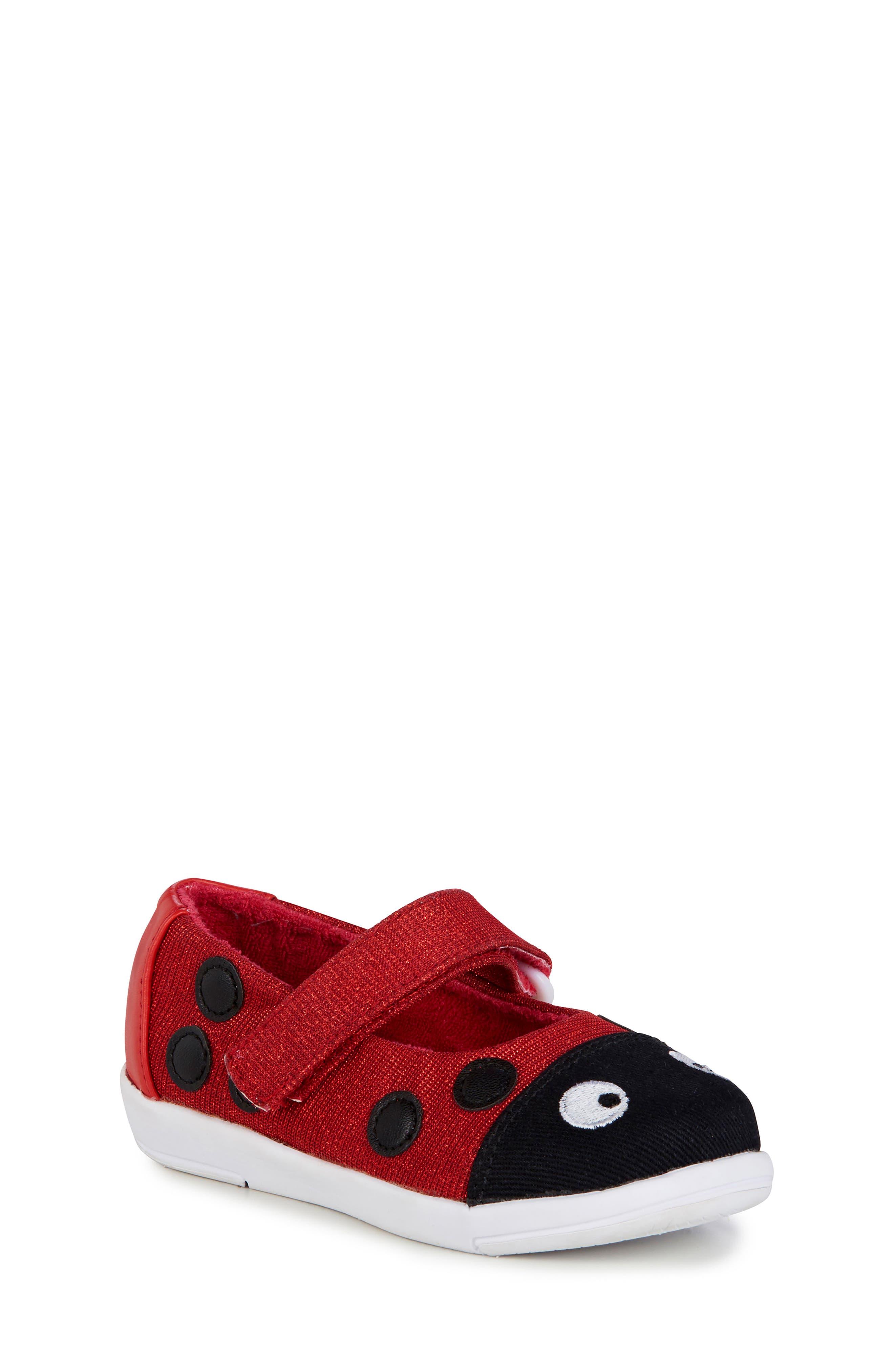 Ladybug Mary Jane,                             Main thumbnail 1, color,                             RED