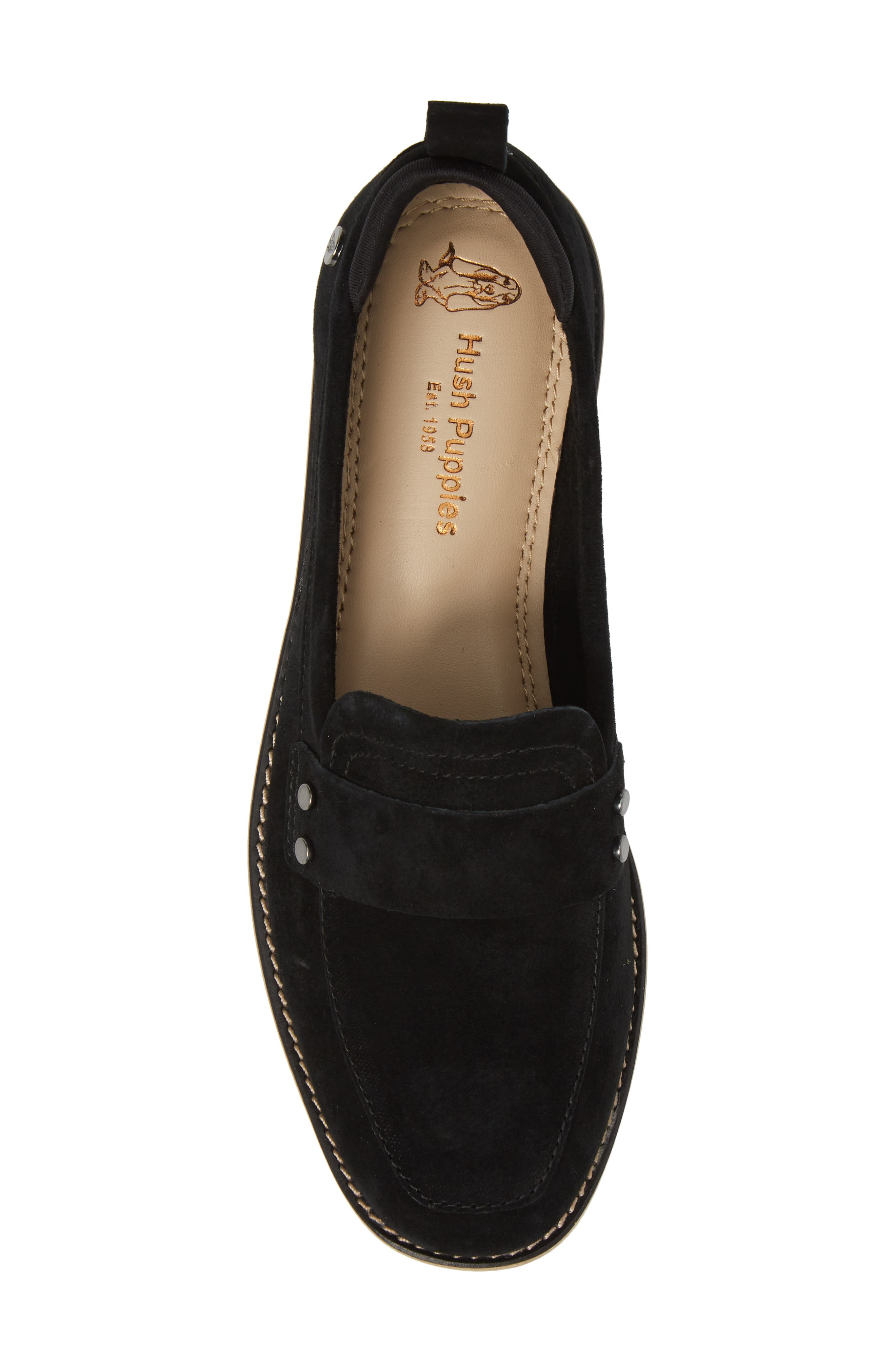 HUSH PUPPIES<SUP>®</SUP>,                             Chowchow Loafer,                             Alternate thumbnail 5, color,                             001