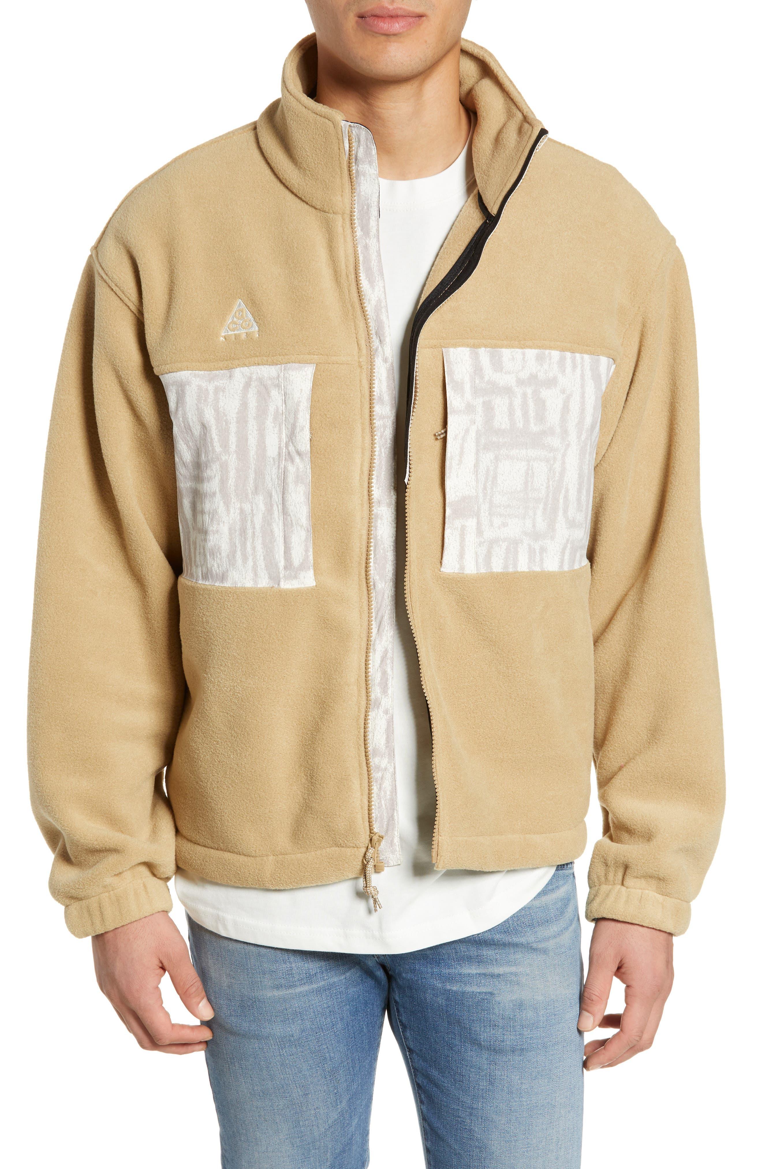 Nike Acg Fleece Jacket, Brown