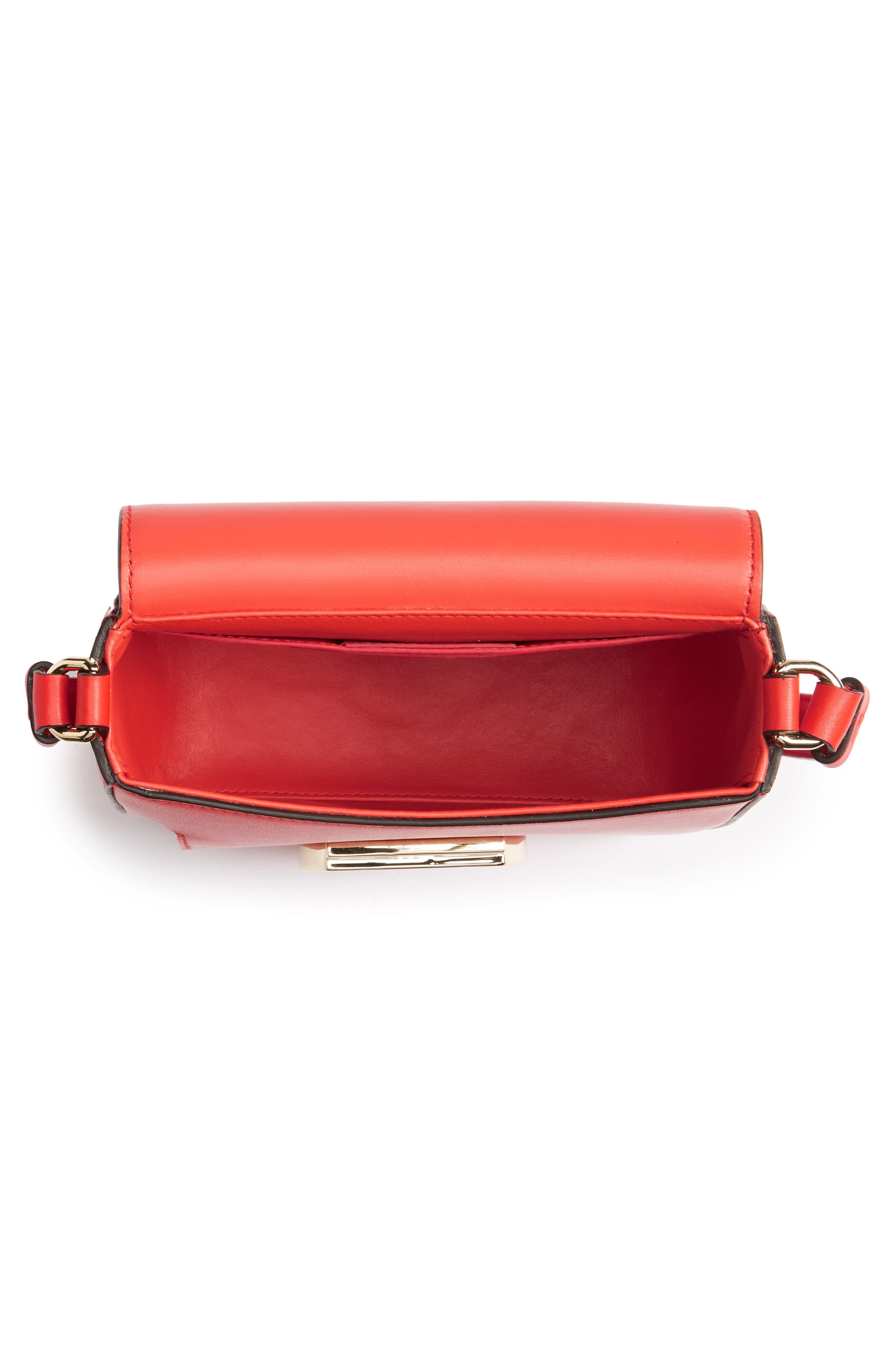 Gancio Lock Leather Crossbody Bag,                             Alternate thumbnail 4, color,                             950