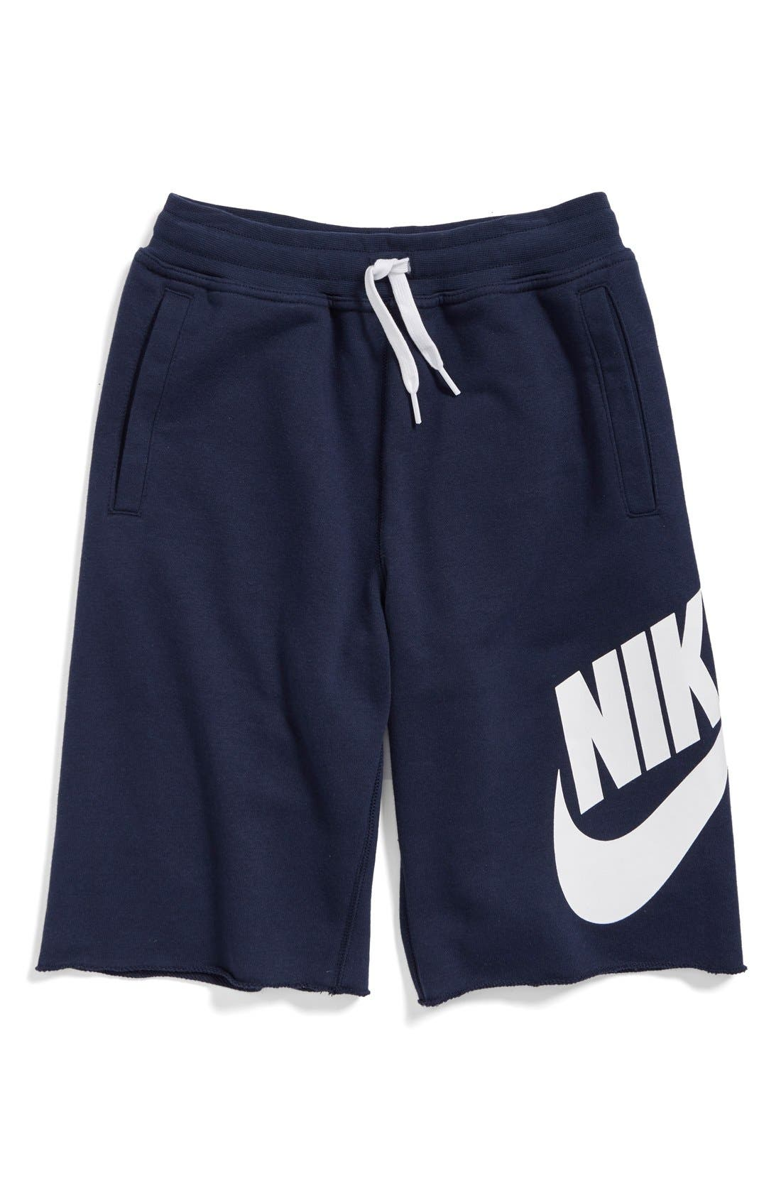 'Alumni' French Terry Knit Shorts,                             Alternate thumbnail 3, color,                             451