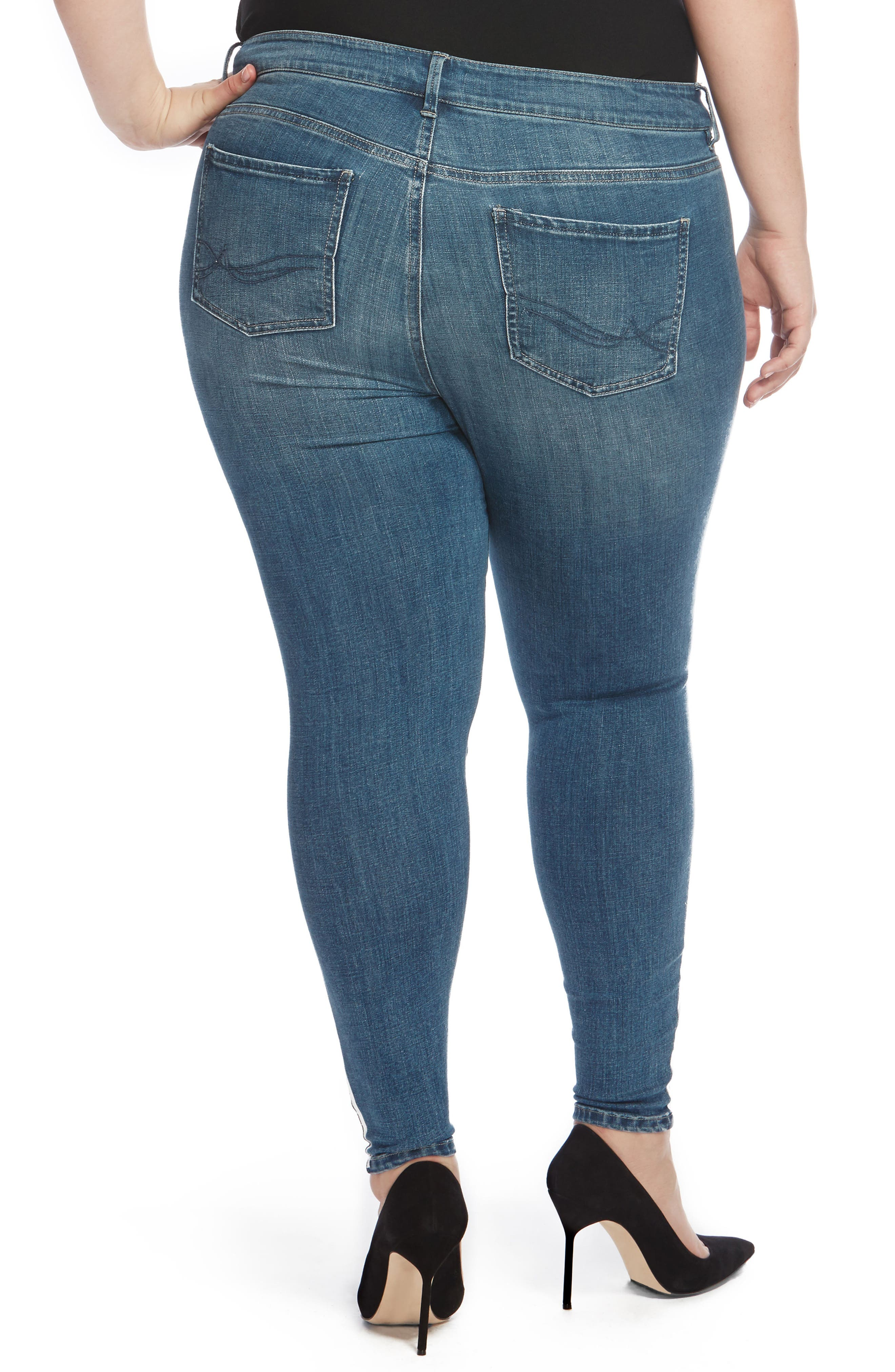 The Pin Up Ripped Ankle Jeans,                             Alternate thumbnail 4, color,