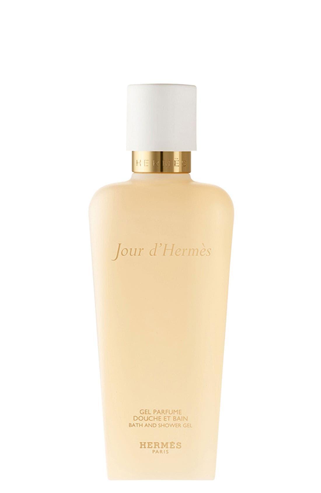 JOUR D HERMES,                             Hermès Jour d'Hermès - Perfumed bath and shower gel,                             Main thumbnail 1, color,                             000