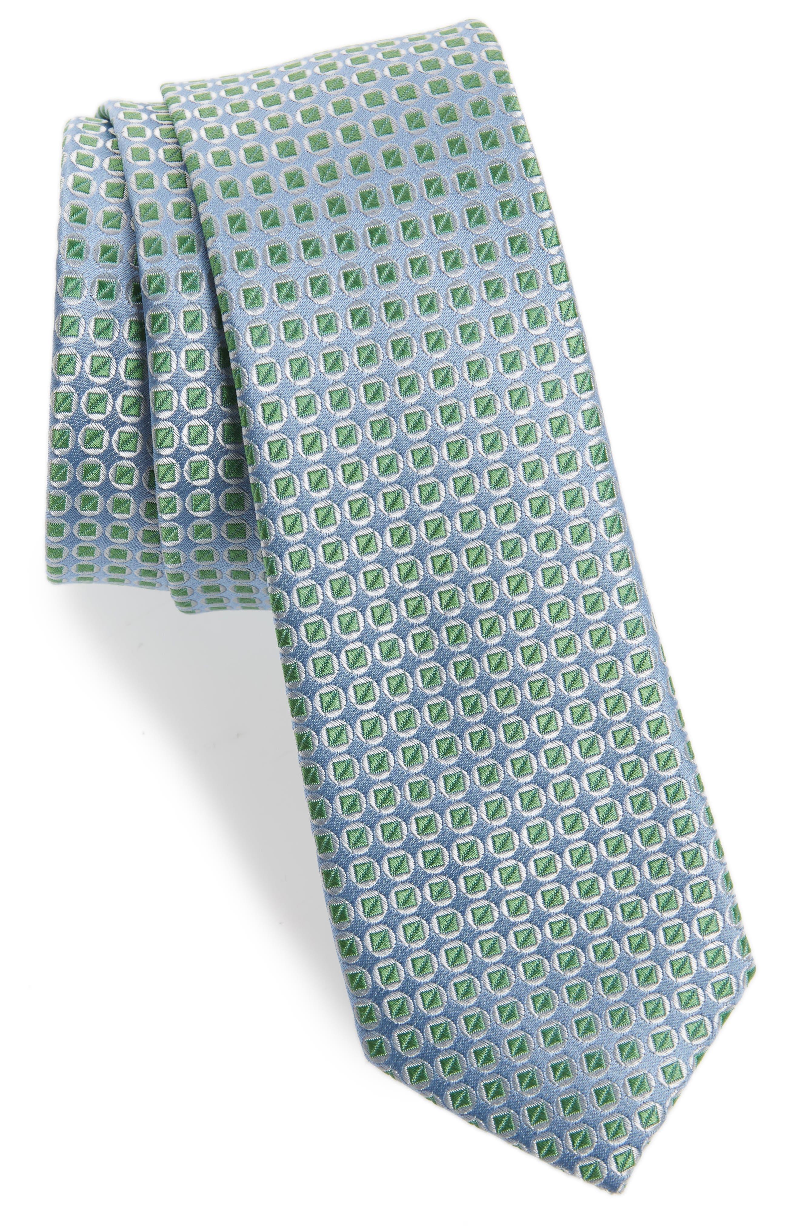 Circle Square Silk Tie,                             Main thumbnail 1, color,                             300