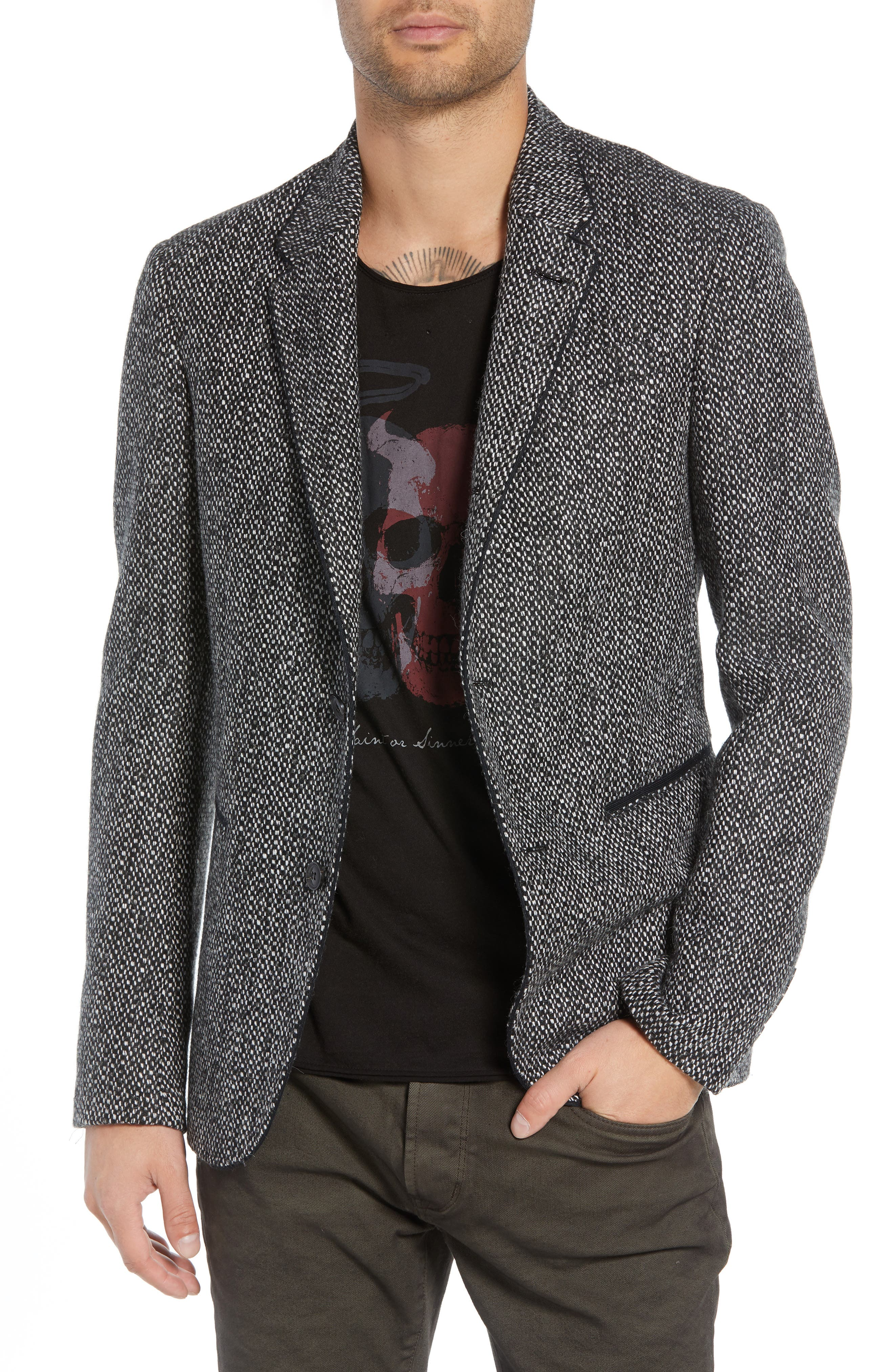 Piped Tweed Wool Blend Sport Coat,                         Main,                         color, 006