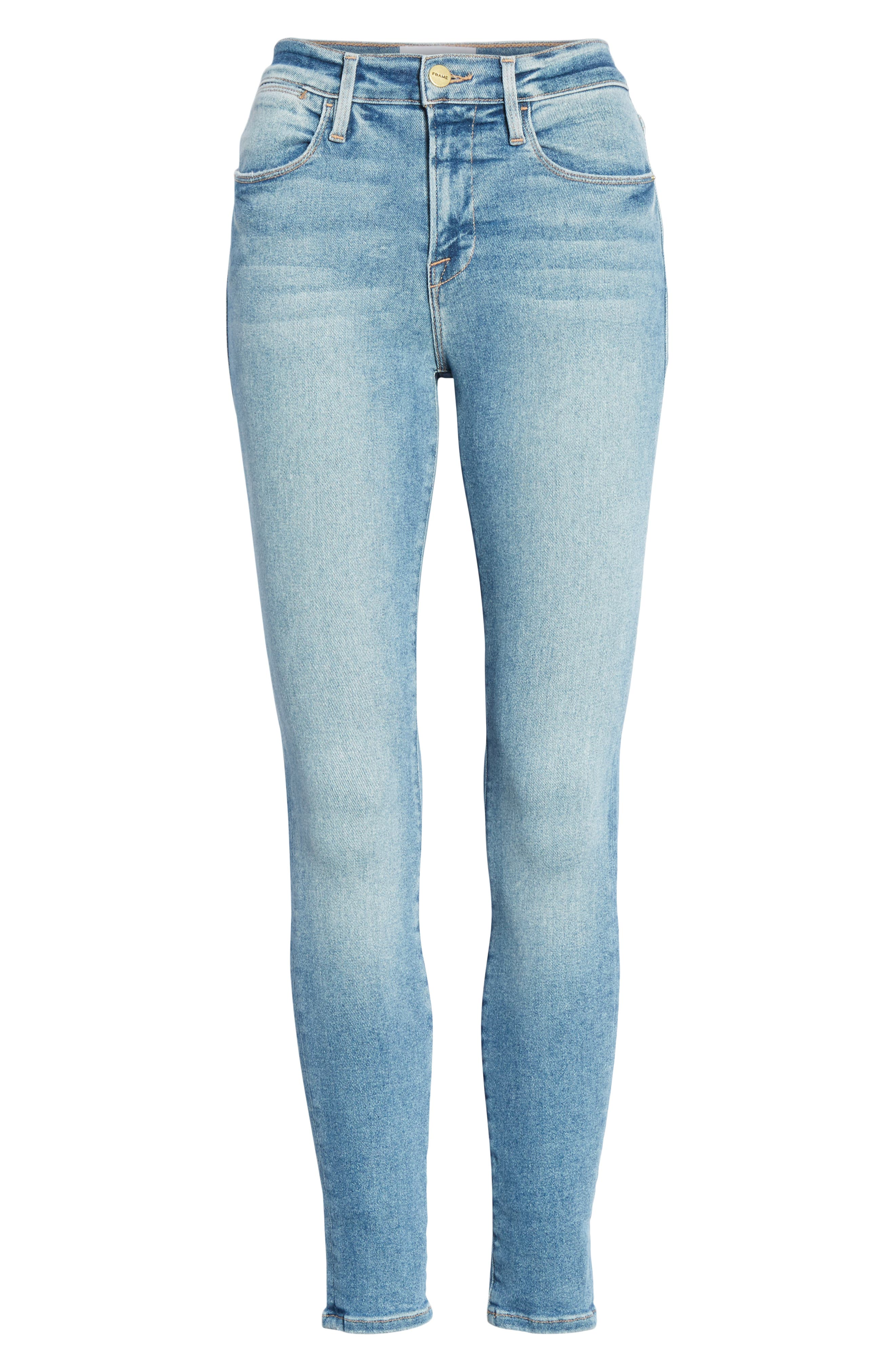 Le High Skinny Jeans,                             Alternate thumbnail 7, color,                             DUPONT DRIVE