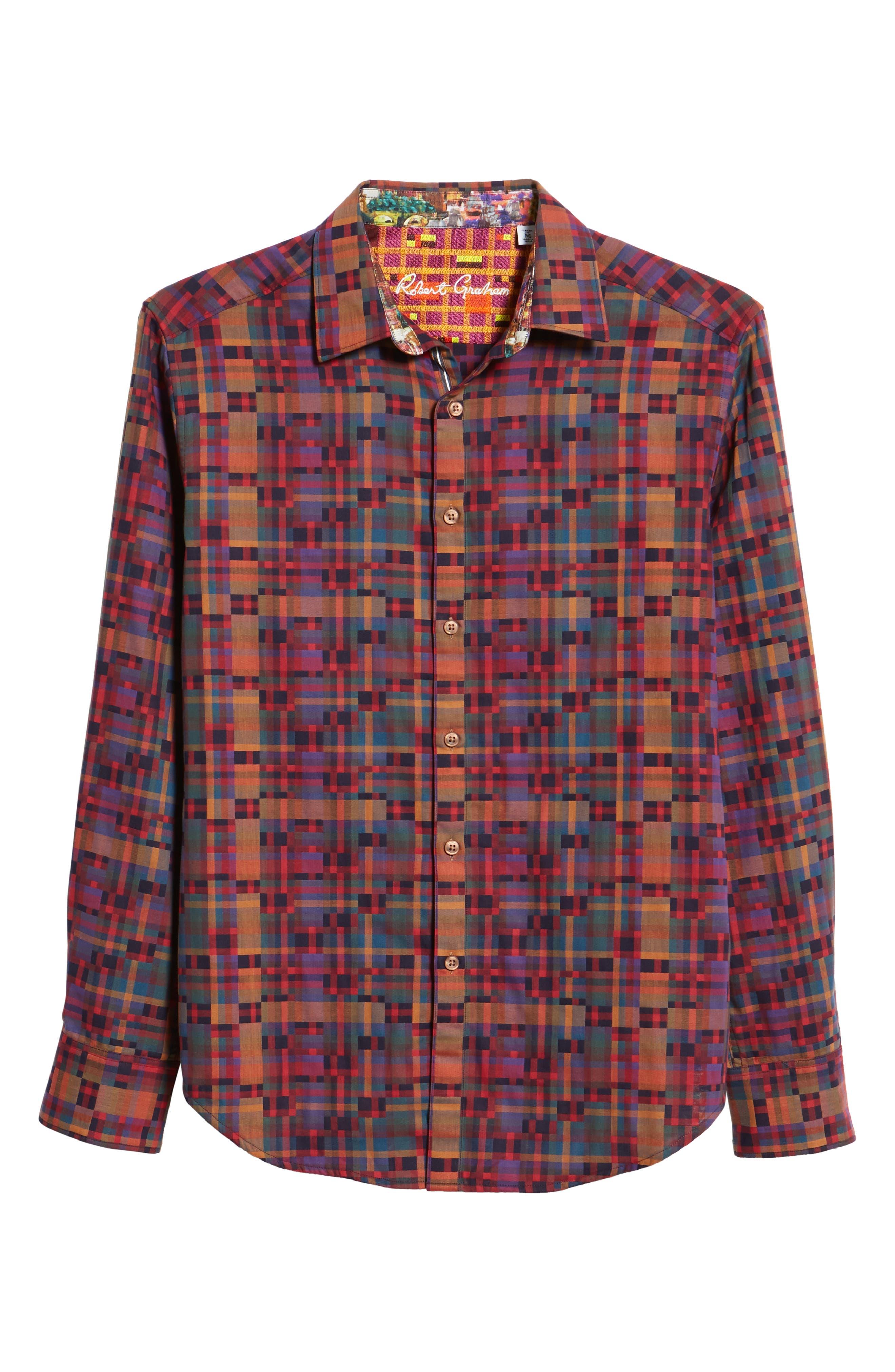 Nash Classic Fit Sport Shirt,                             Alternate thumbnail 5, color,                             MULTI