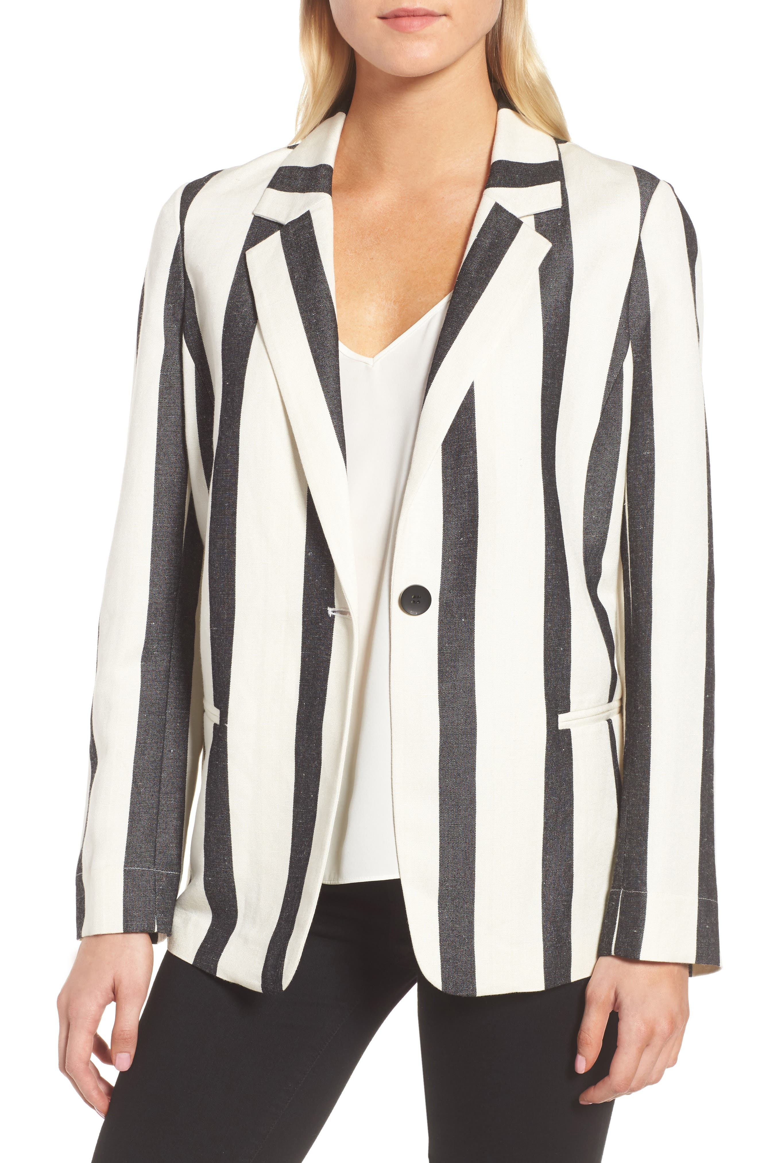 Stripe Blazer,                         Main,                         color,