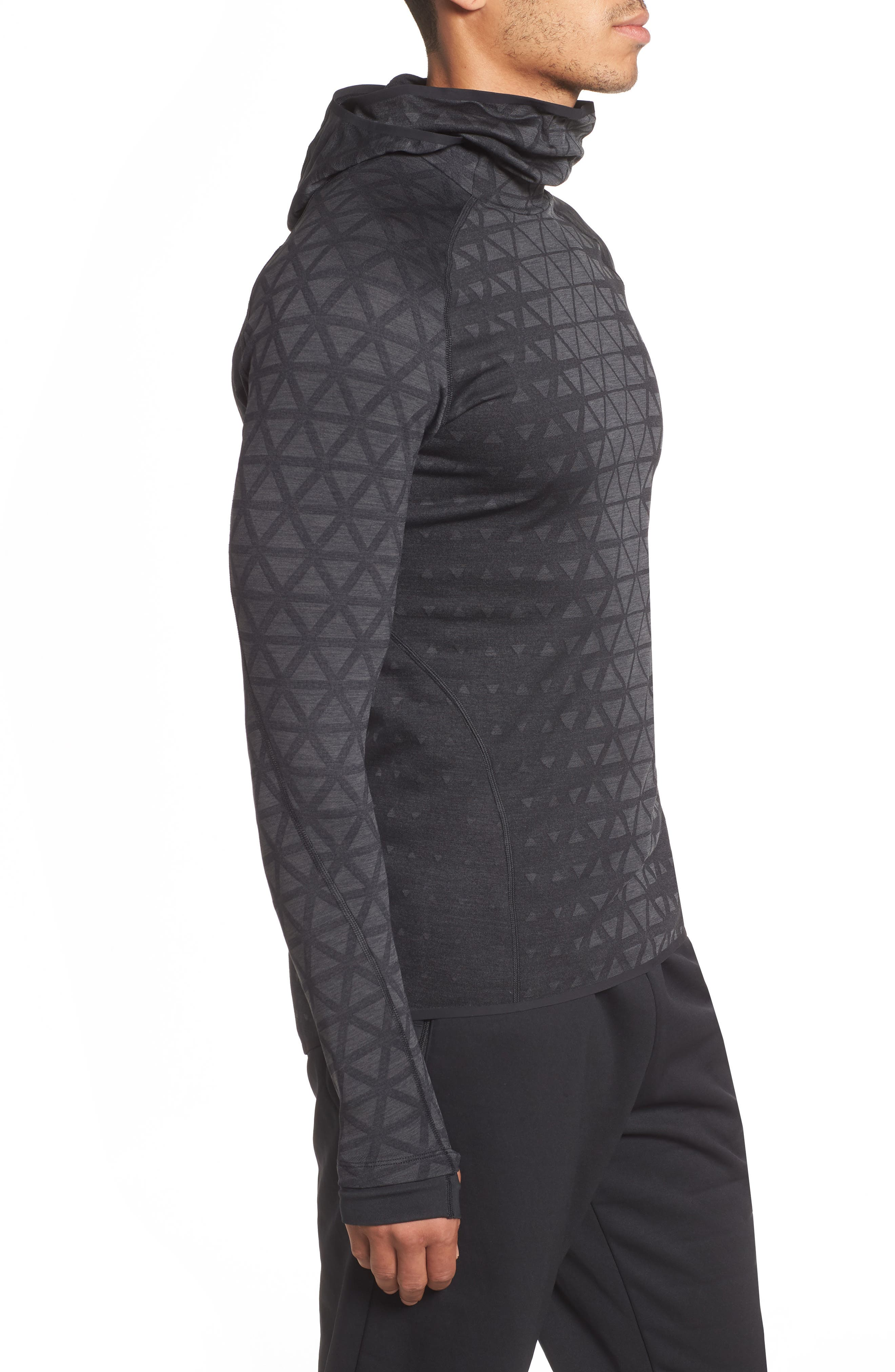 Therma Sphere Hooded Training Top,                             Alternate thumbnail 3, color,                             BLACK/ ANTHRACITE/ ANTHRACITE