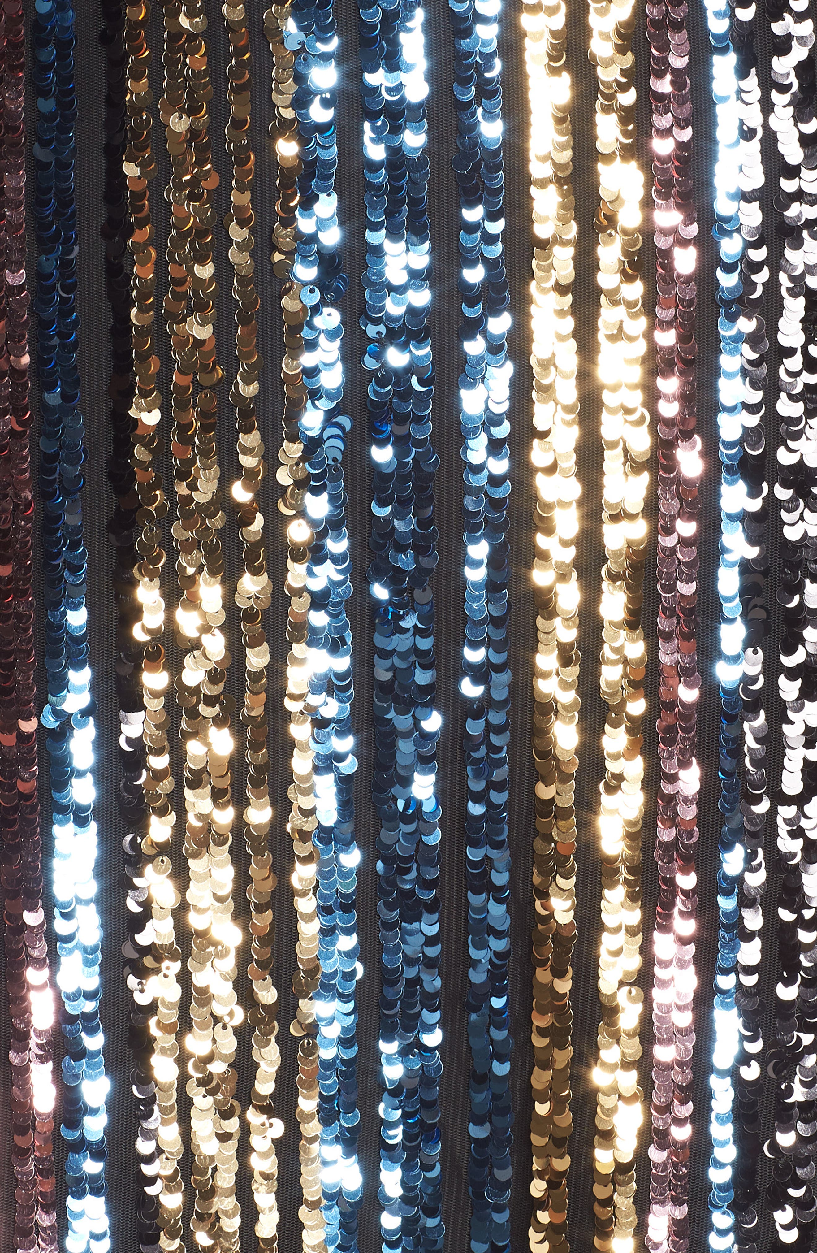 Sam Edleman Rainbow Stripe Sequin Wrap Front Dress,                             Alternate thumbnail 6, color,                             RAINBOW