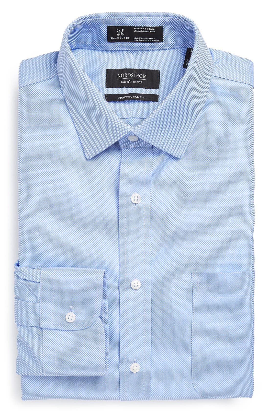 Smartcare<sup>™</sup> Traditional Fit Solid Dress Shirt,                             Main thumbnail 2, color,