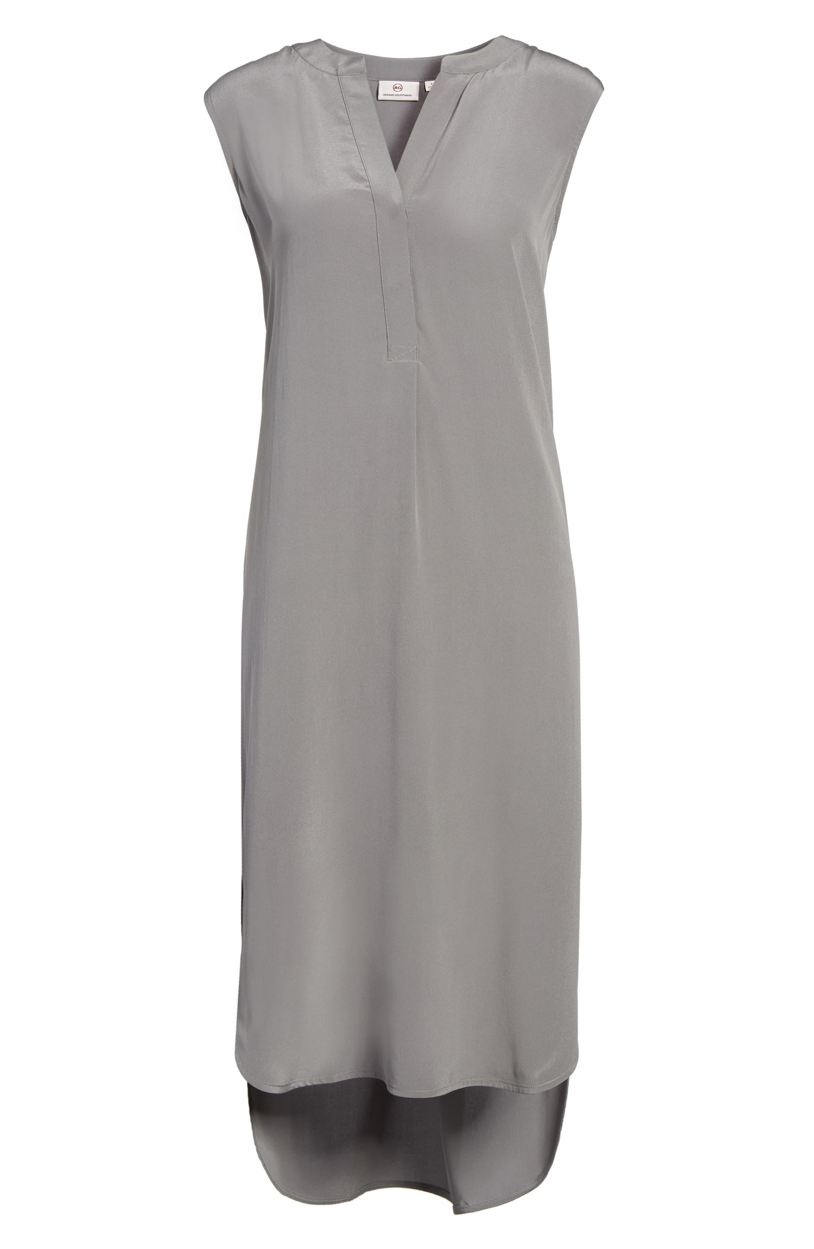 Britt Silk Shift Dress,                             Alternate thumbnail 6, color,