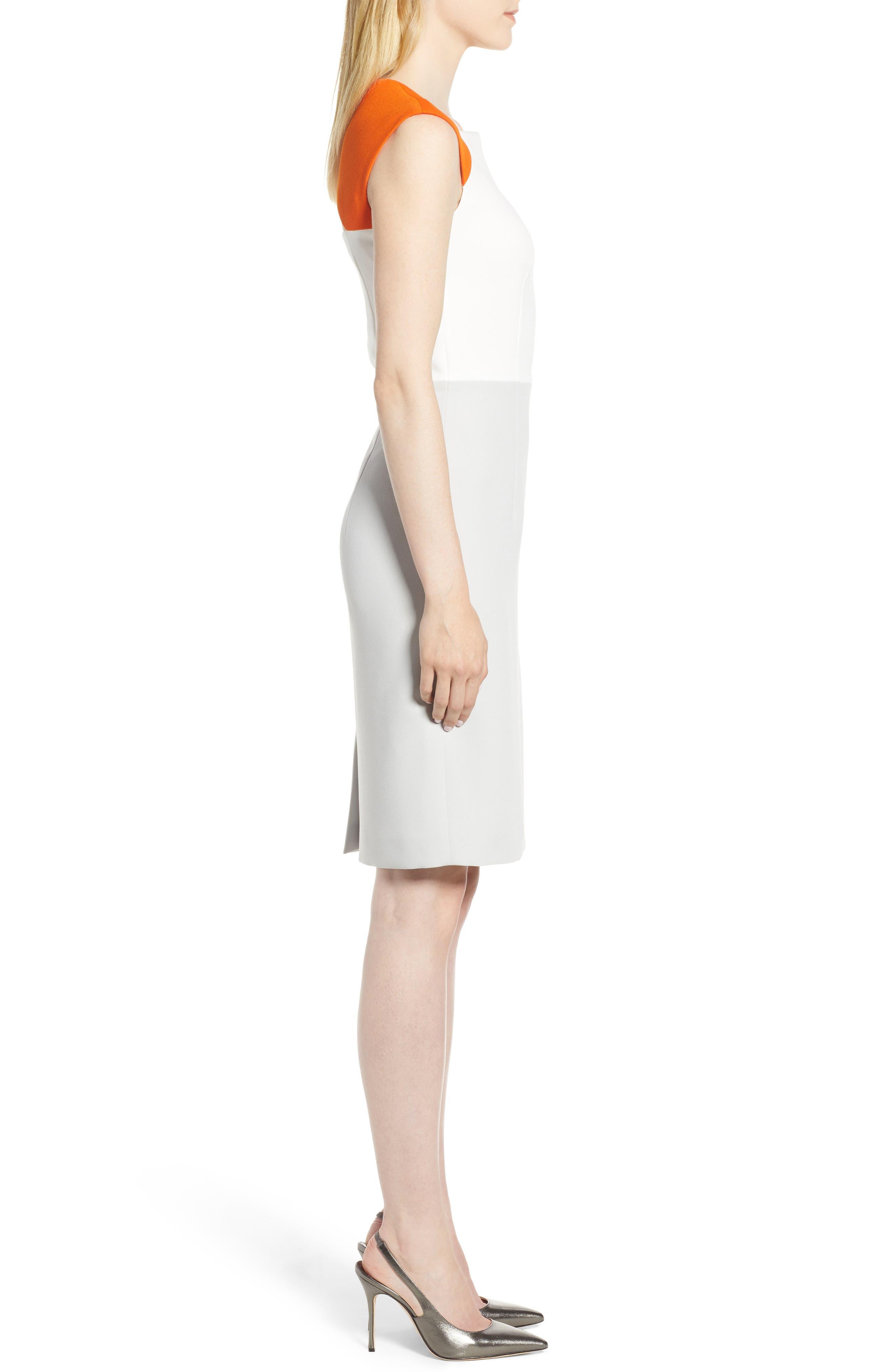Dekala Colorblock Sheath Dress,                             Alternate thumbnail 3, color,                             021