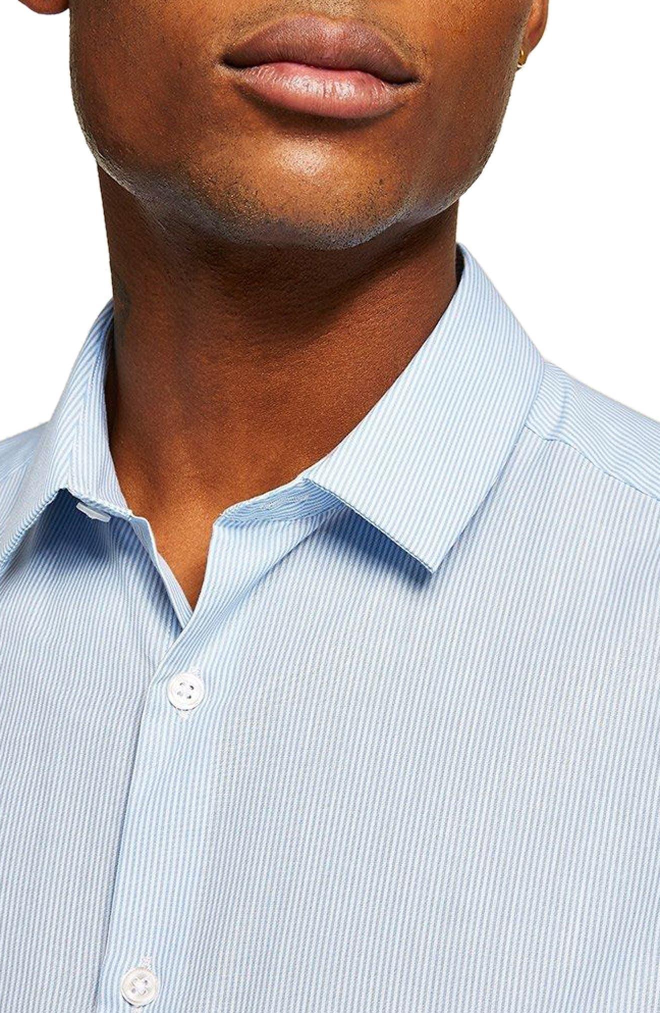 Slim Fit Stripe Shirt,                             Alternate thumbnail 2, color,                             BLUE BULTI