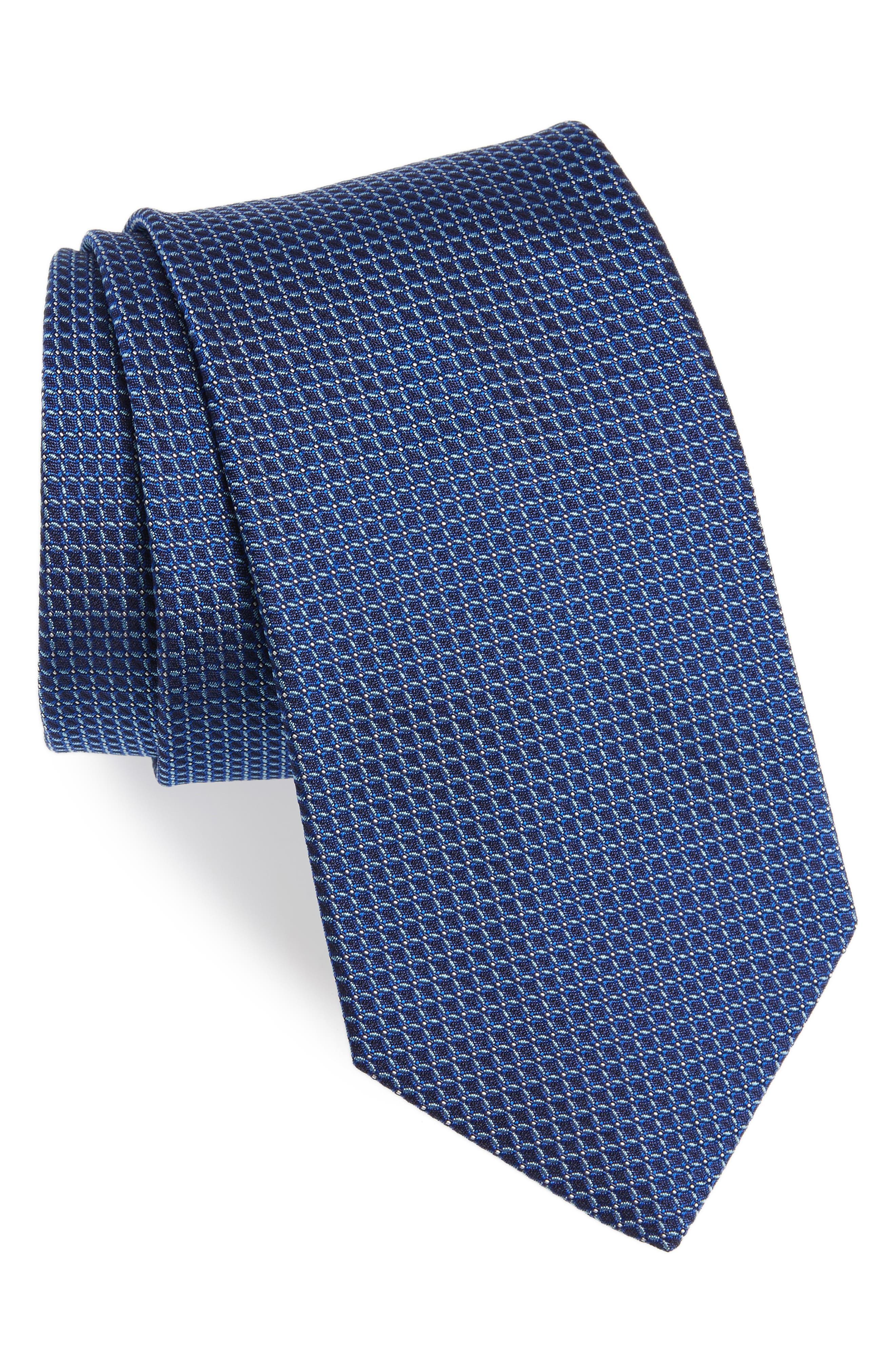 Geometric Silk Tie,                             Main thumbnail 1, color,                             412