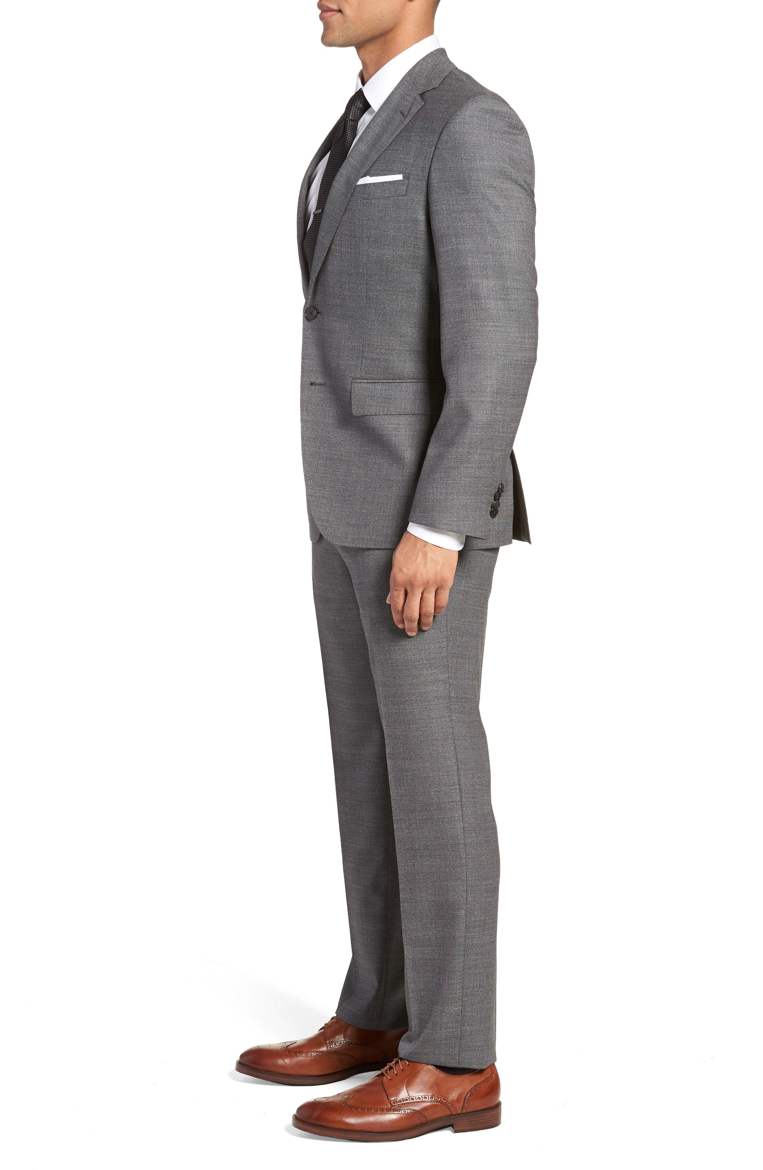 Johnstons/Lenon Classic Fit Solid Wool Suit,                             Alternate thumbnail 3, color,                             020