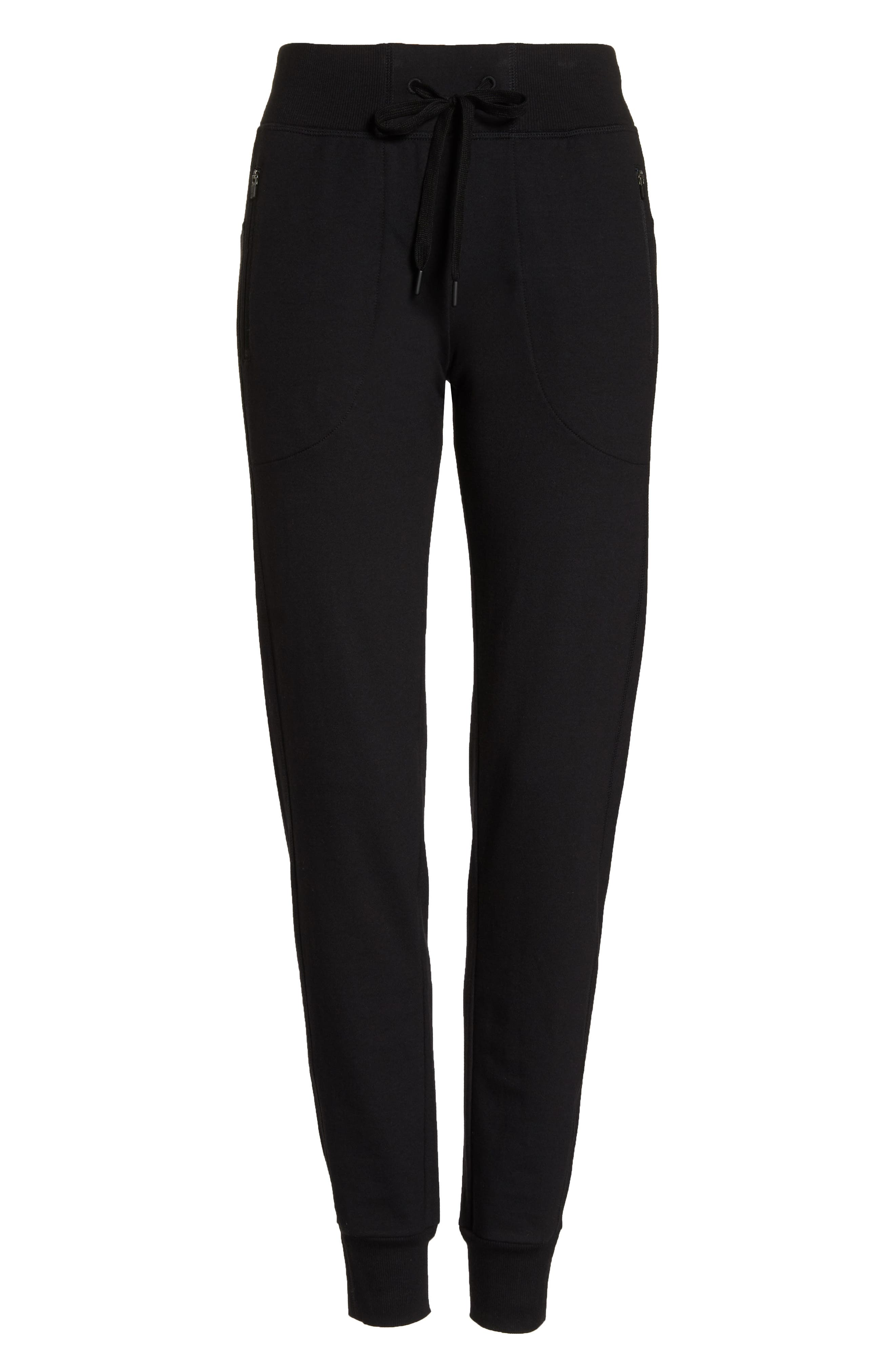 Taryn Luxe Jogger Pants,                             Alternate thumbnail 7, color,                             BLACK