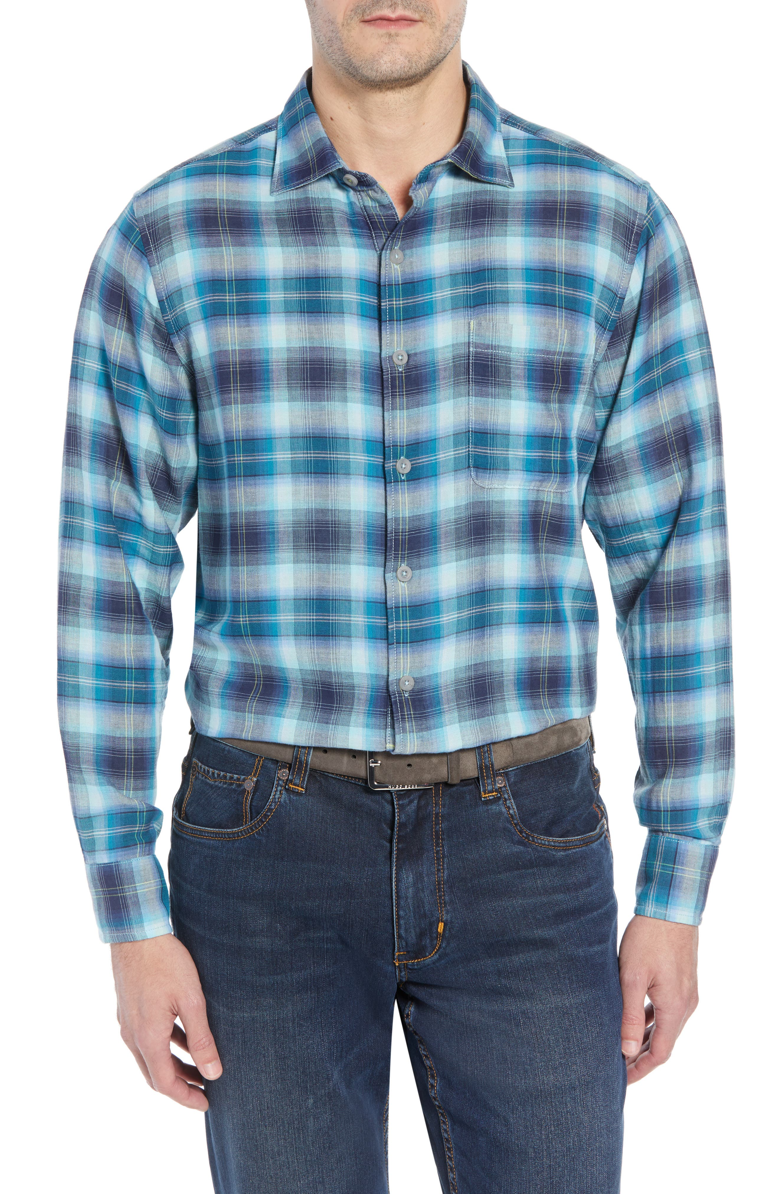 Fiesta Sunset Plaid Shirt,                         Main,                         color, SHIPWRECK