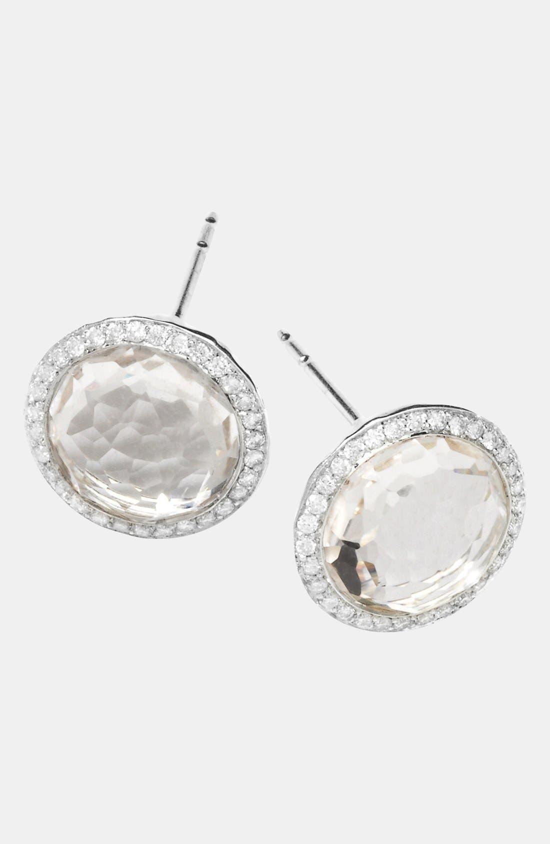 'Rock Candy - Stella' Diamond & Stone Stud Earrings,                         Main,                         color, 040