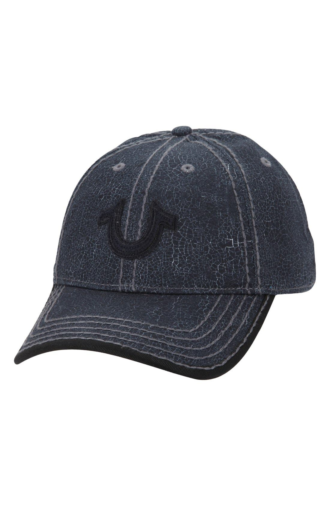 Crackle Print Baseball Cap,                             Main thumbnail 1, color,                             001