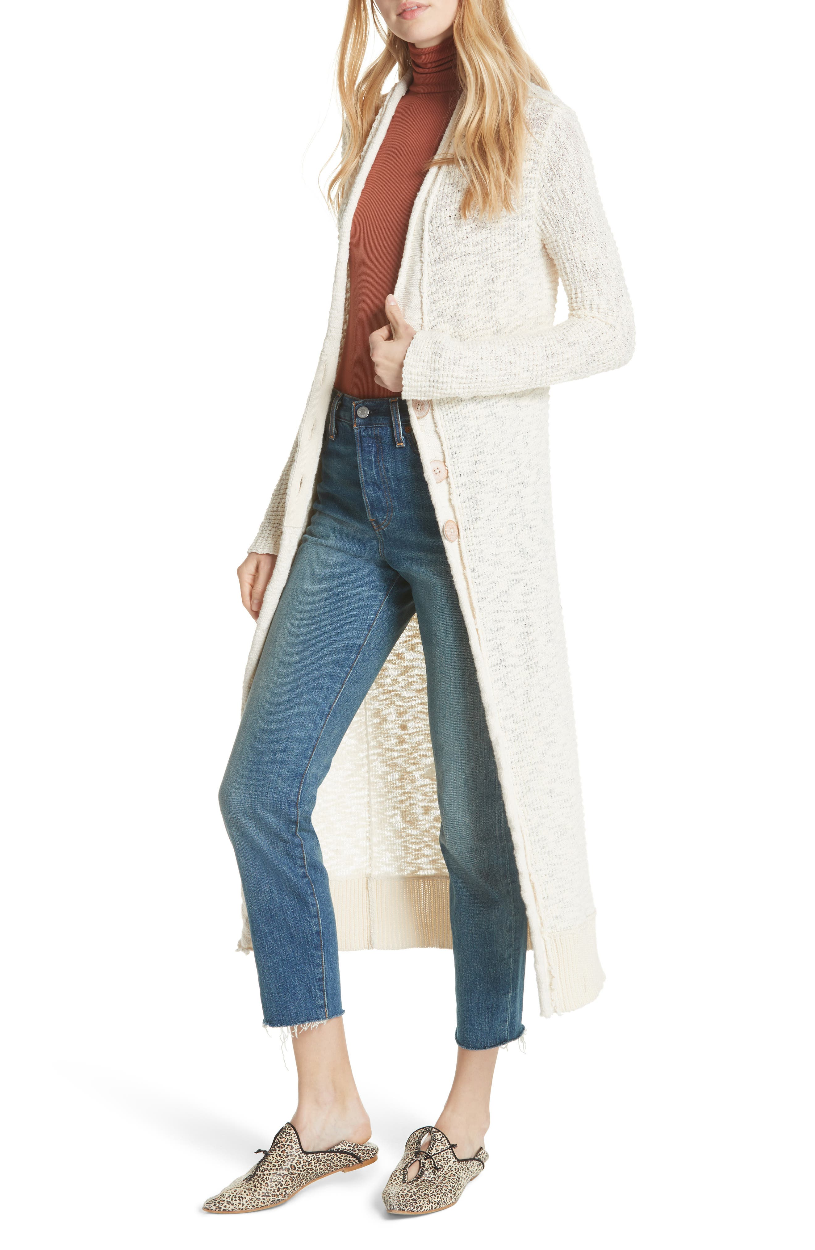 Clearwater Long Cardigan,                         Main,                         color, IVORY