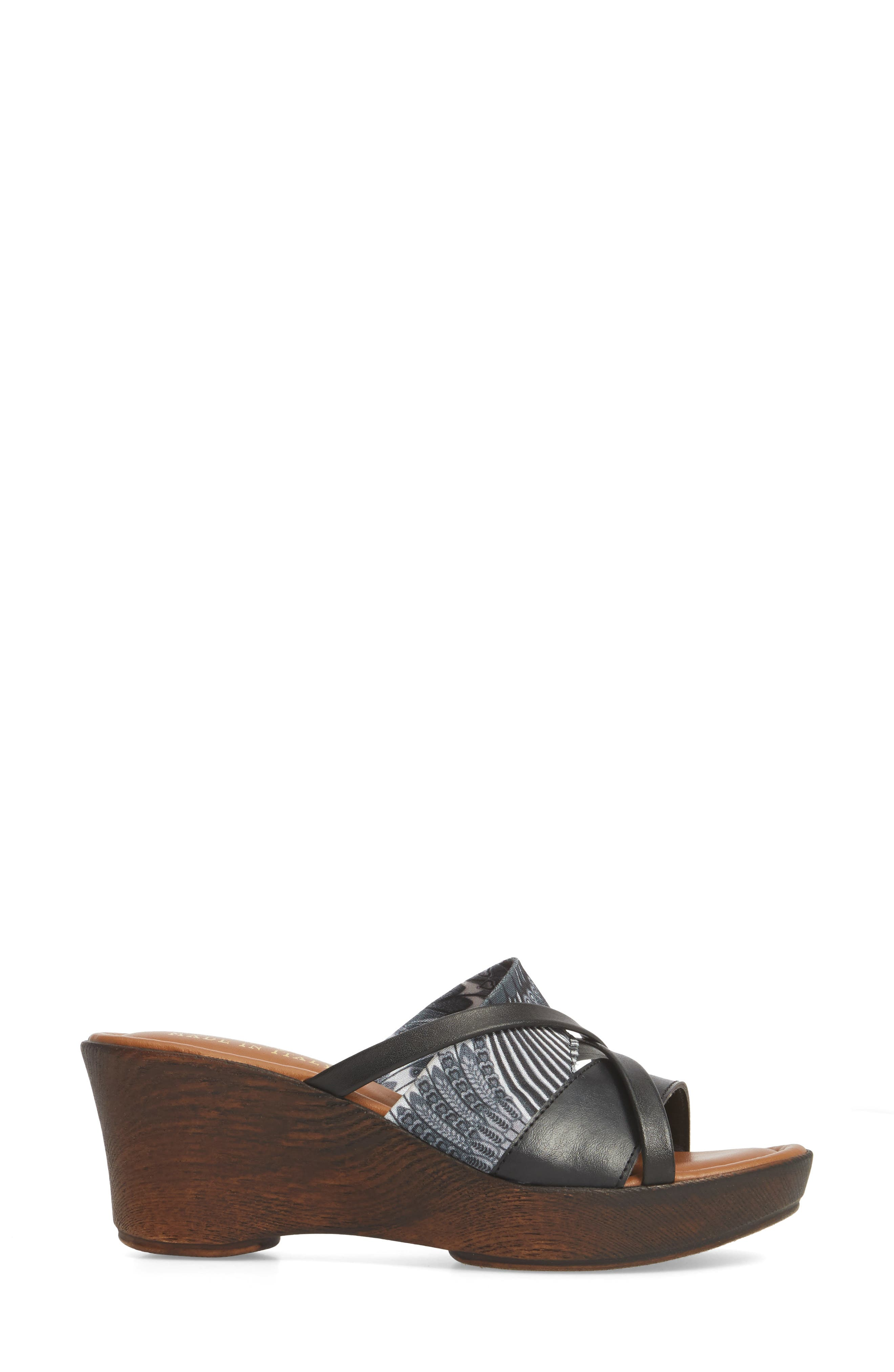 by East Street<sup>®</sup> Lucette Strappy Wedge Mule,                             Alternate thumbnail 3, color,                             008