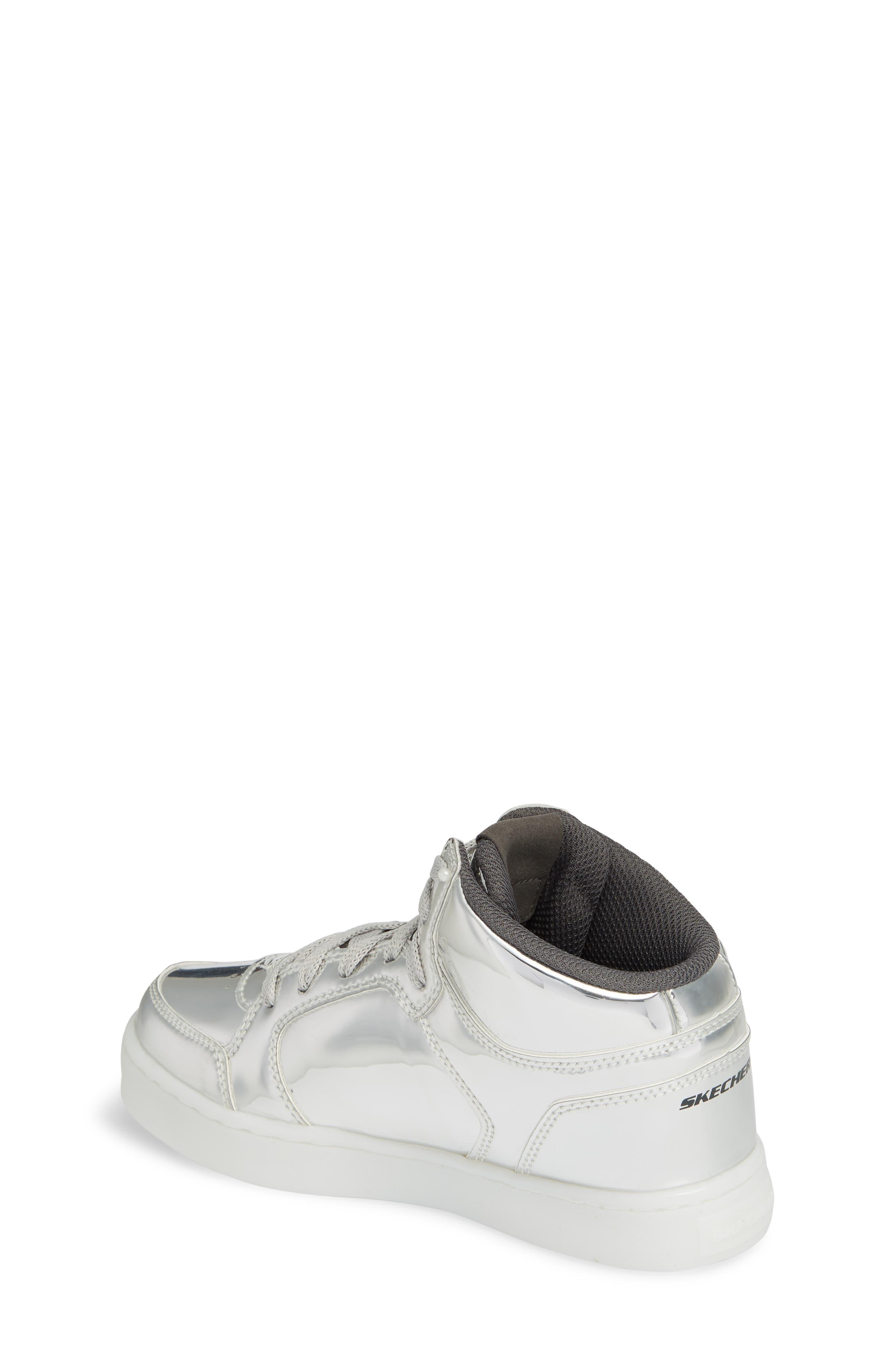 Energy Lights Metallic High Top Sneaker,                             Alternate thumbnail 6, color,