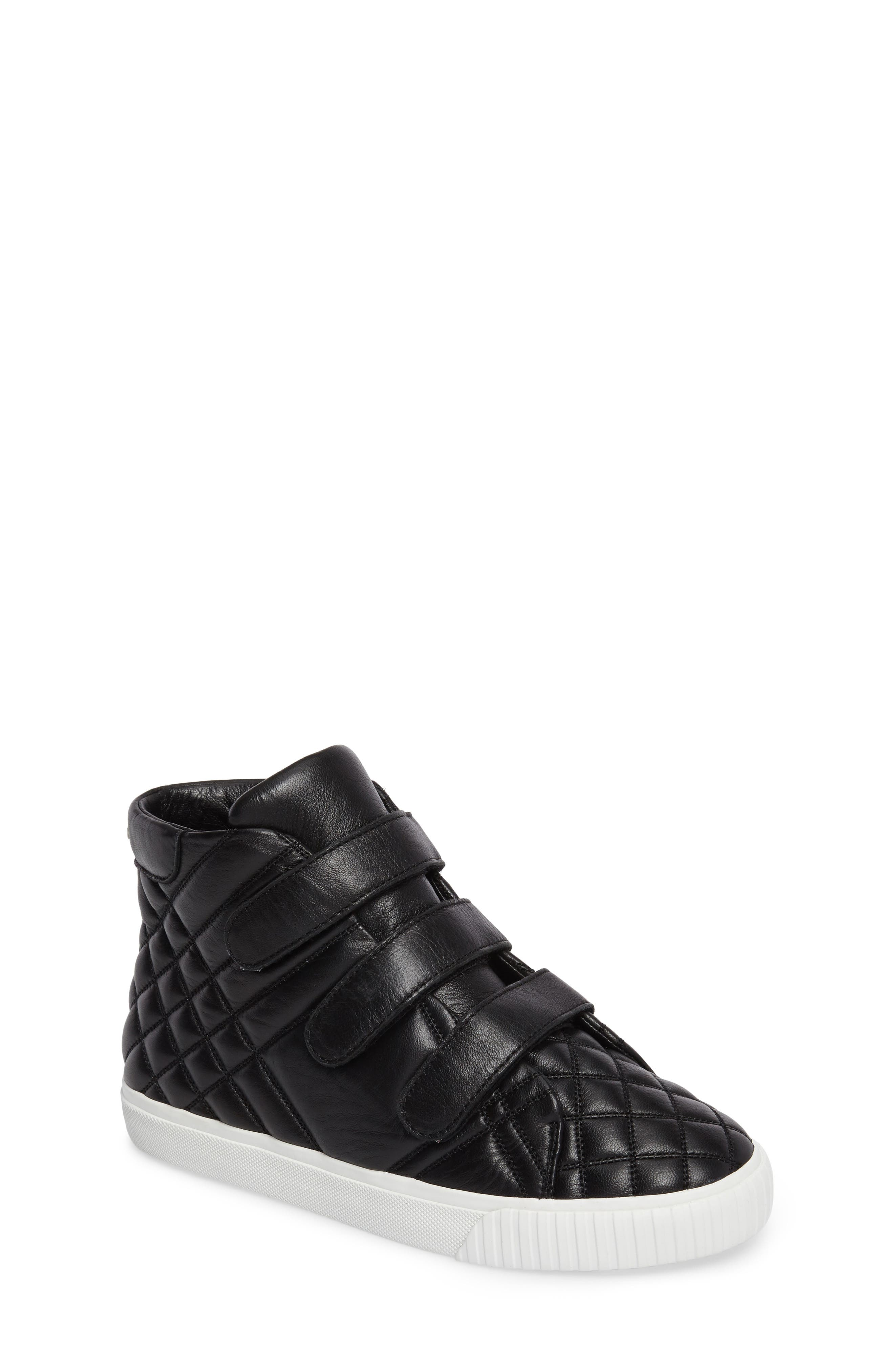Sturrock Quilted High Top Sneaker,                         Main,                         color, 001