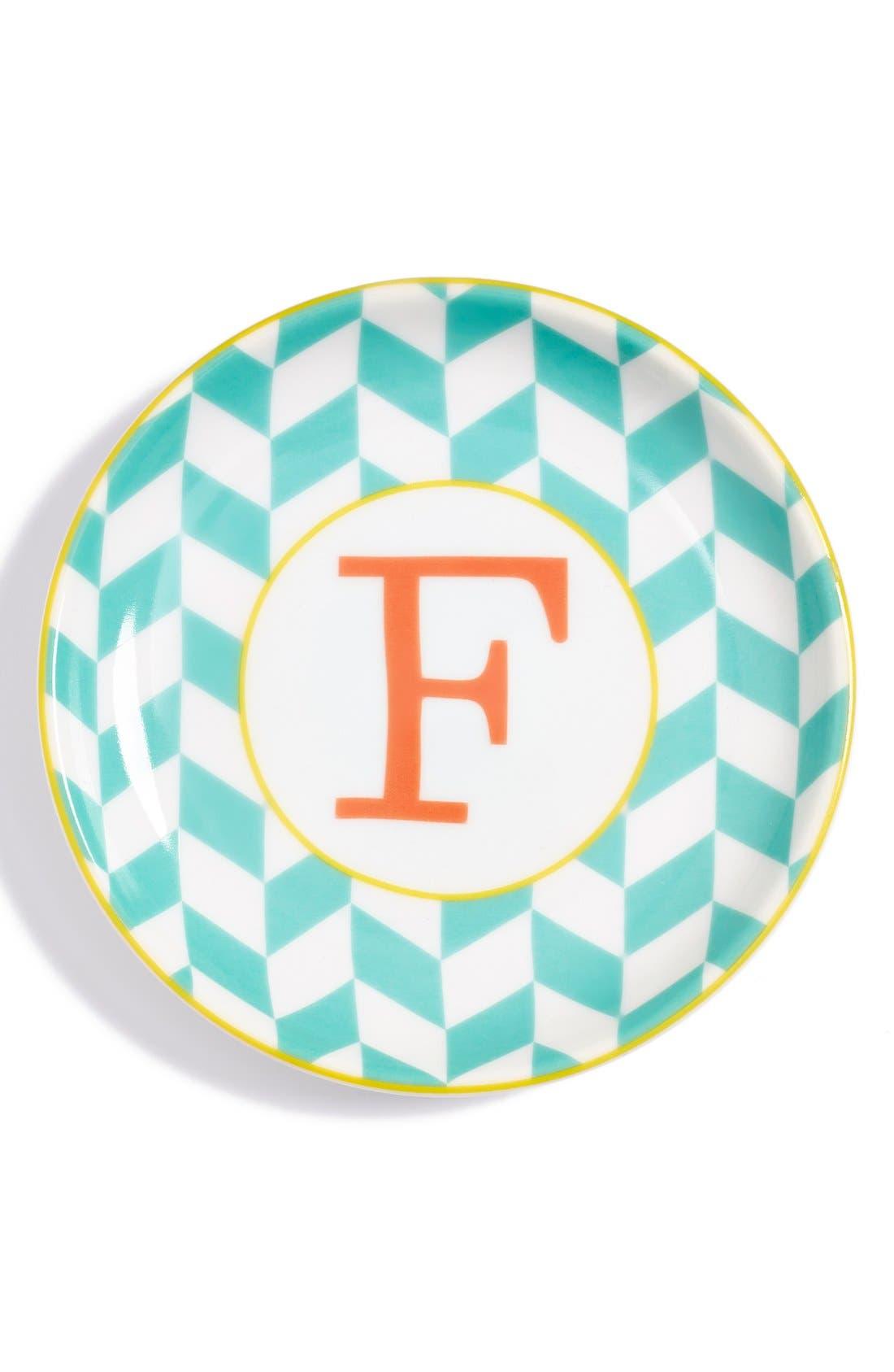 'L'Alphabet' Porcelain Tray,                             Main thumbnail 8, color,