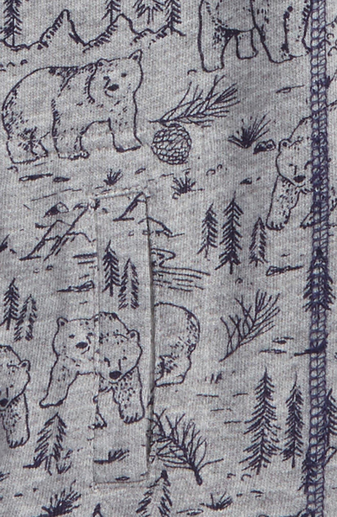 Print Quarter Zip Pullover,                             Alternate thumbnail 2, color,                             020