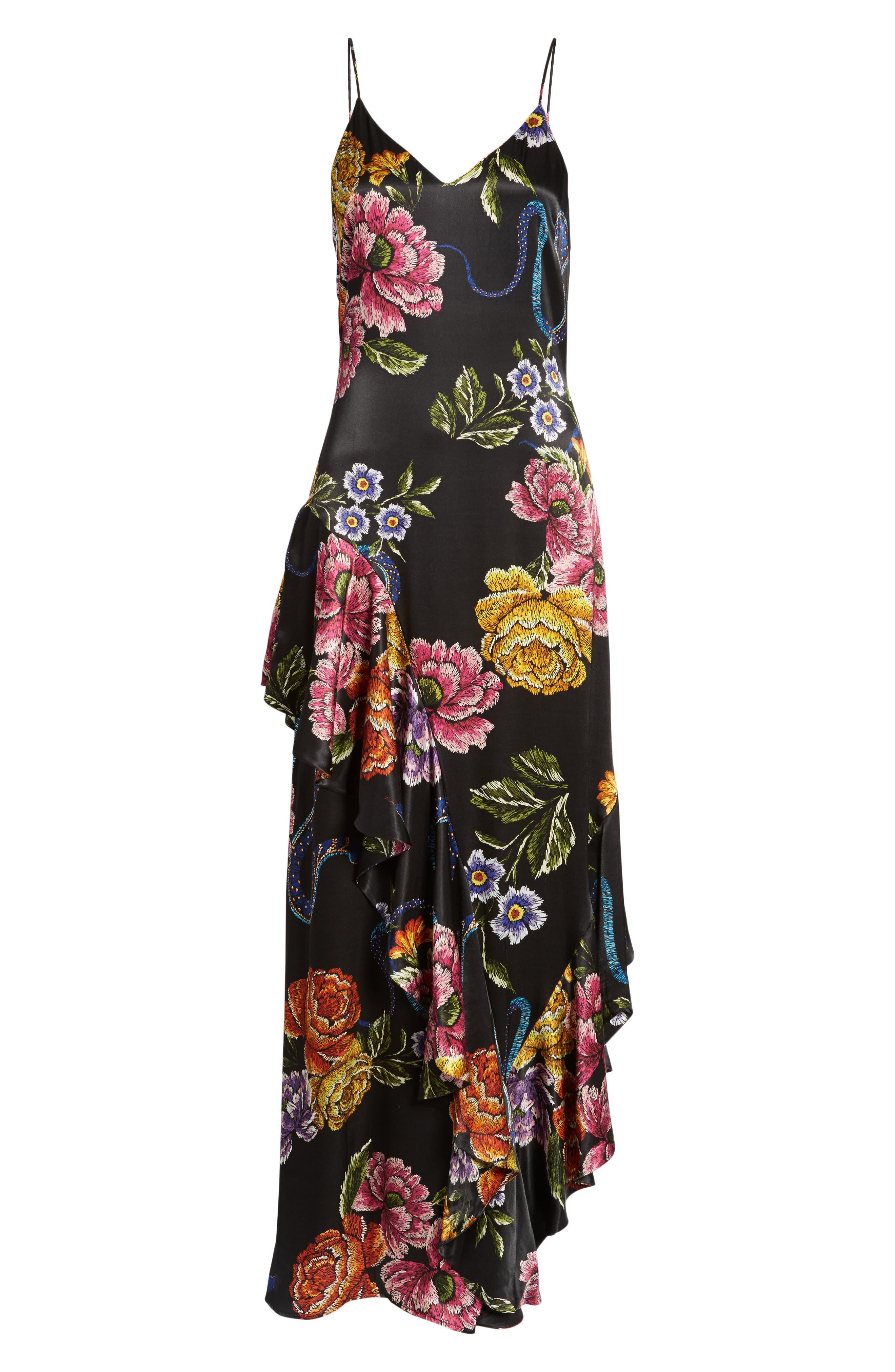 Florence Ruffle Maxi Dress,                             Alternate thumbnail 6, color,