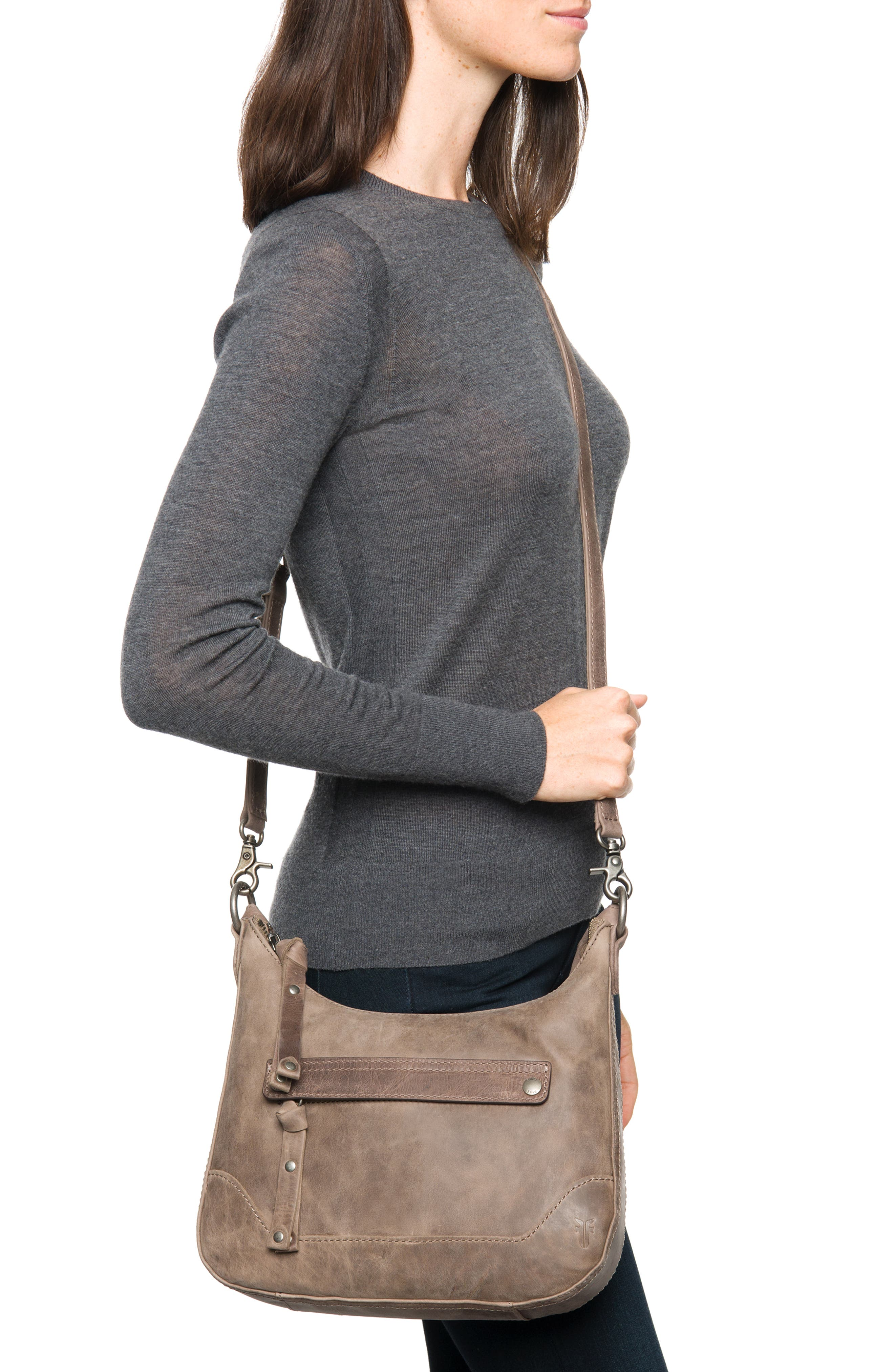 Small Melissa Leather Hobo Bag,                             Alternate thumbnail 2, color,                             030